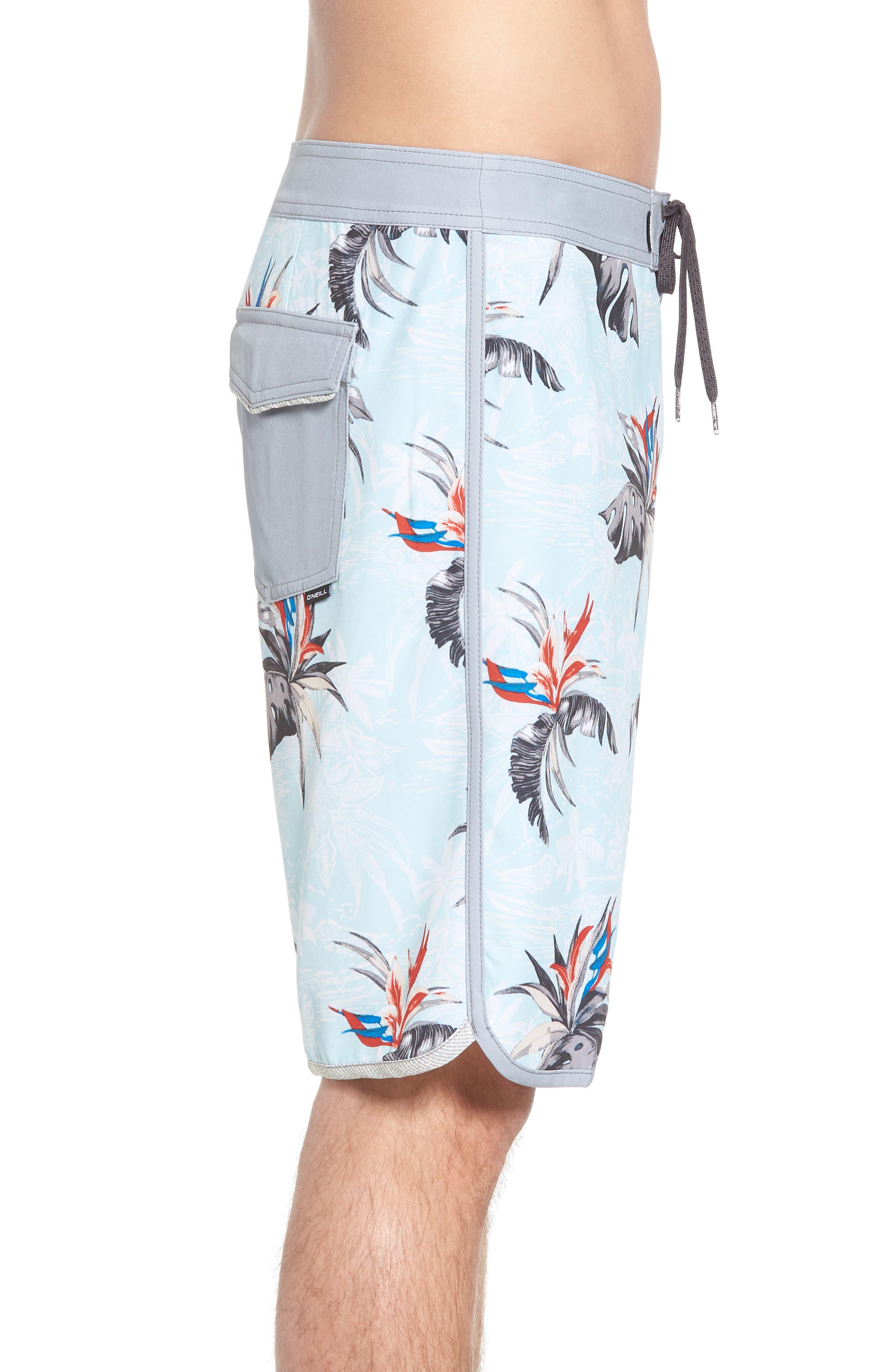 Hyperfreak Islander Board Shorts,                             Alternate thumbnail 3, color,                             Ice Blue
