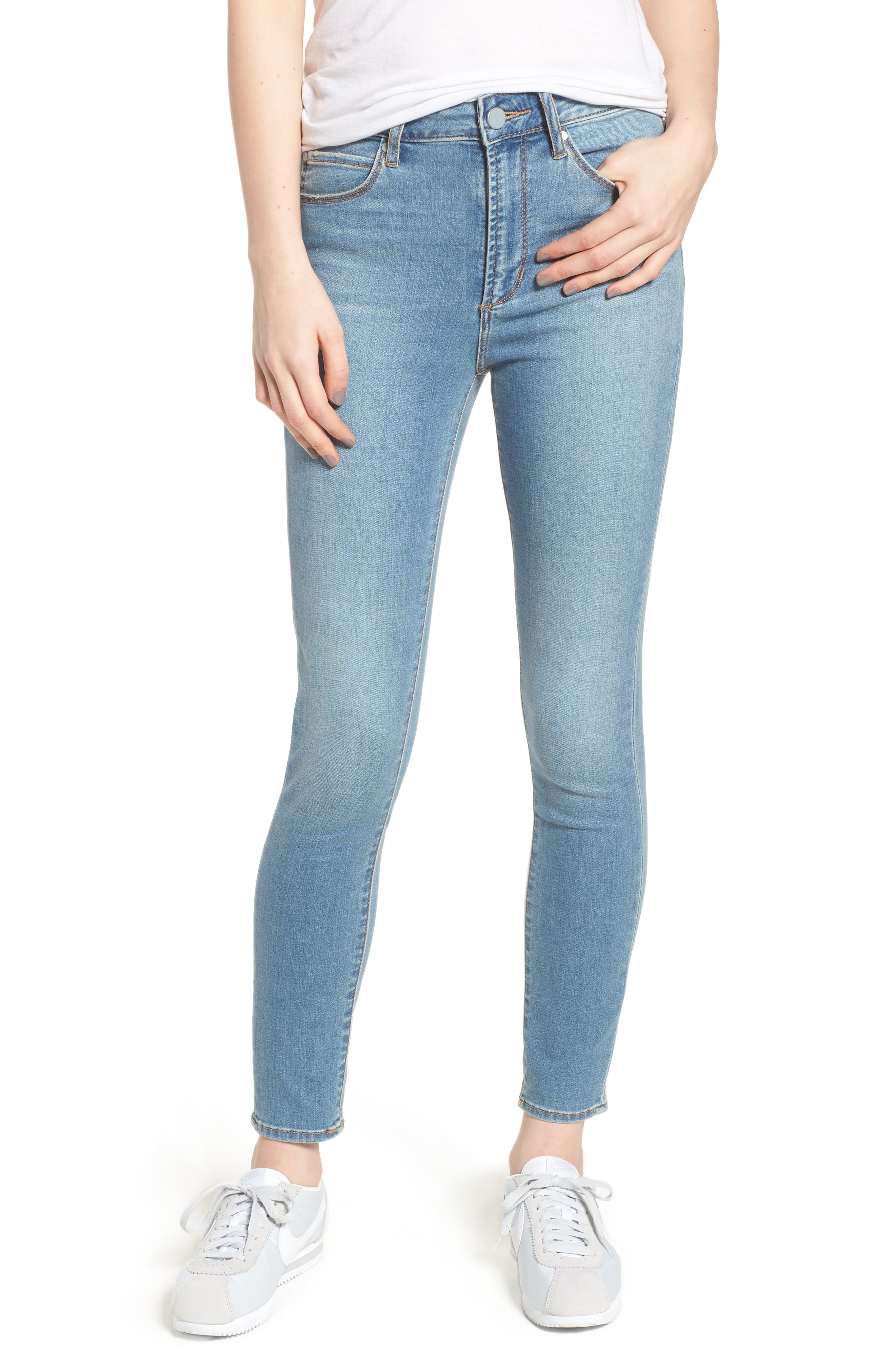 Heather High Waist Skinny Jeans,                             Main thumbnail 1, color,                             Monaco