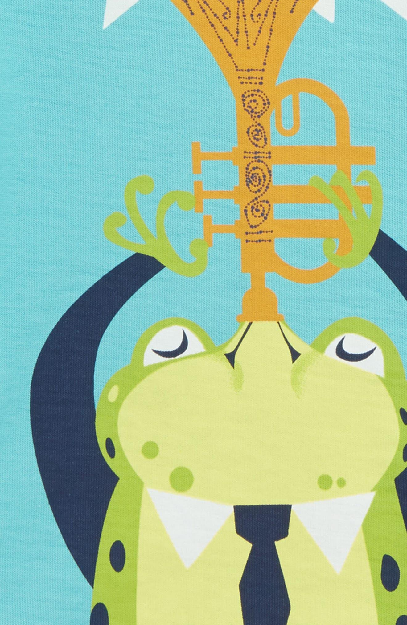 Jazz Frog T-Shirt,                             Alternate thumbnail 2, color,                             Ciel