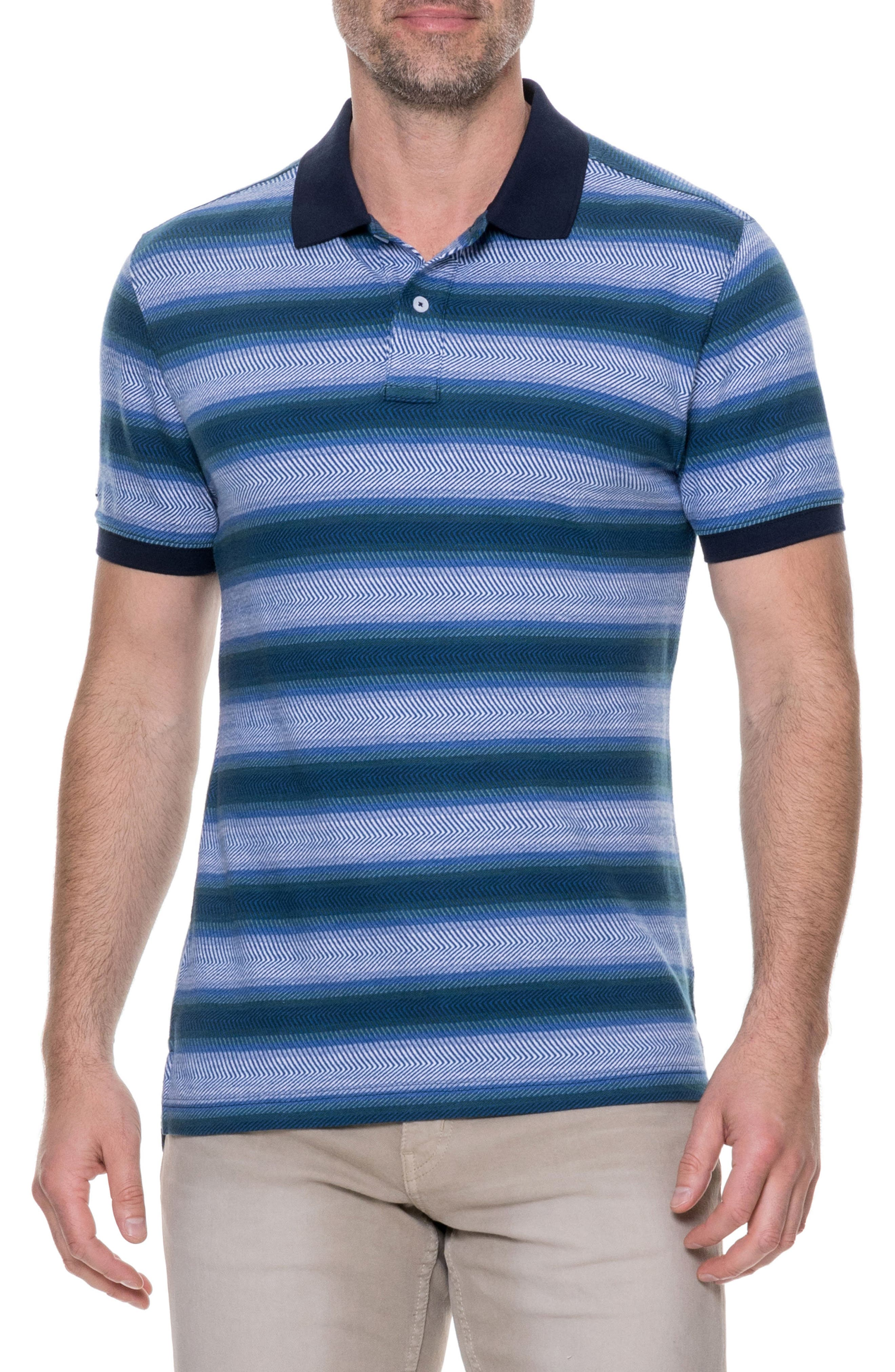 Blue Spur Polo,                         Main,                         color, Reef