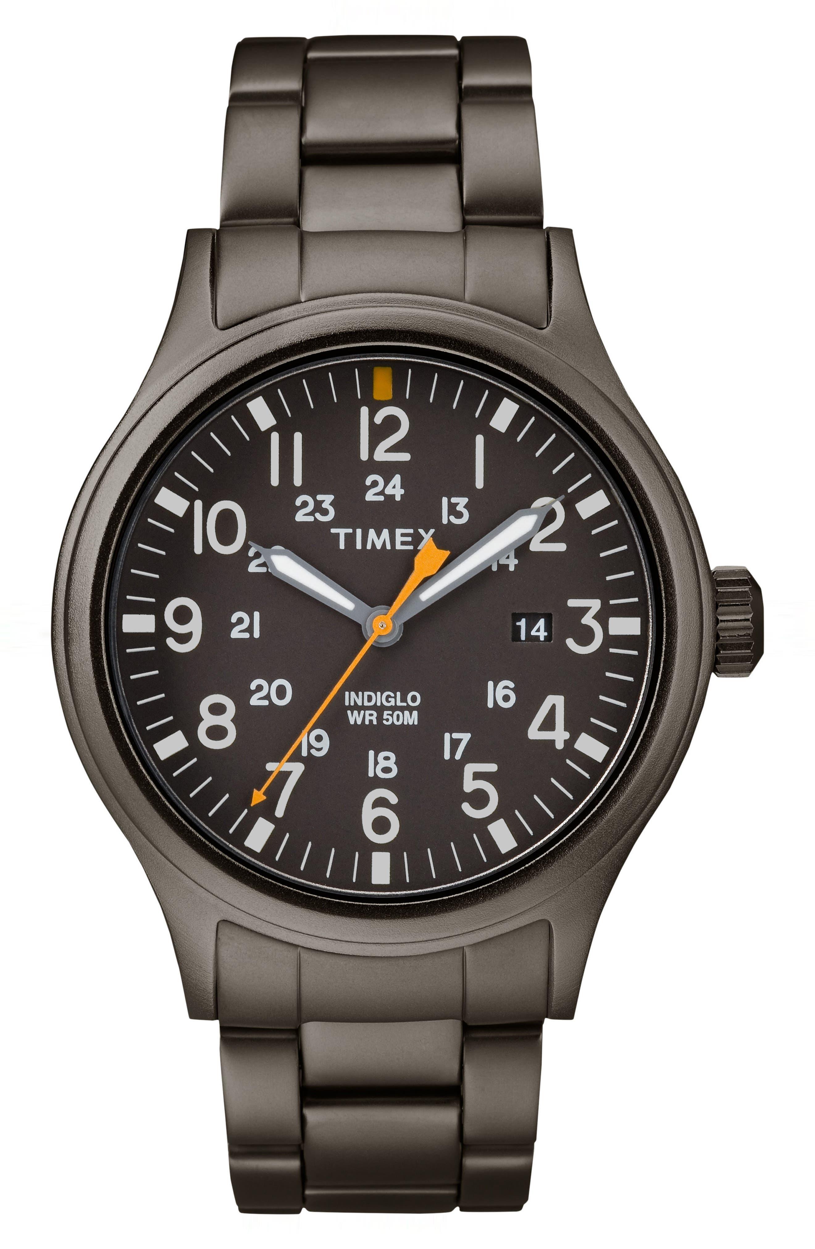 Allied Bracelet Watch, 40mm,                             Main thumbnail 1, color,                             Grey
