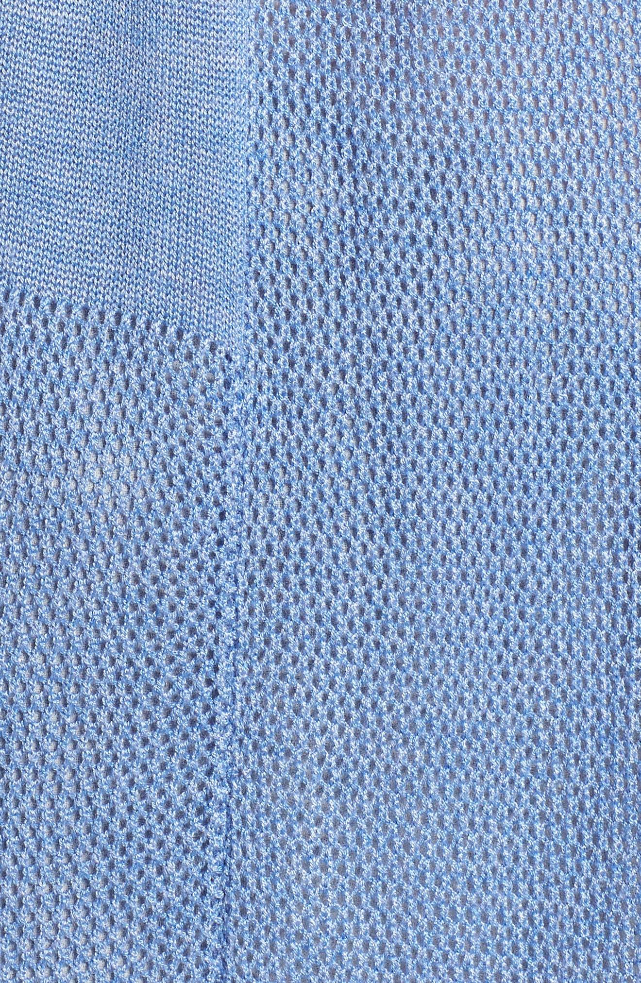 Longline Mesh Vest,                             Alternate thumbnail 5, color,                             Blue