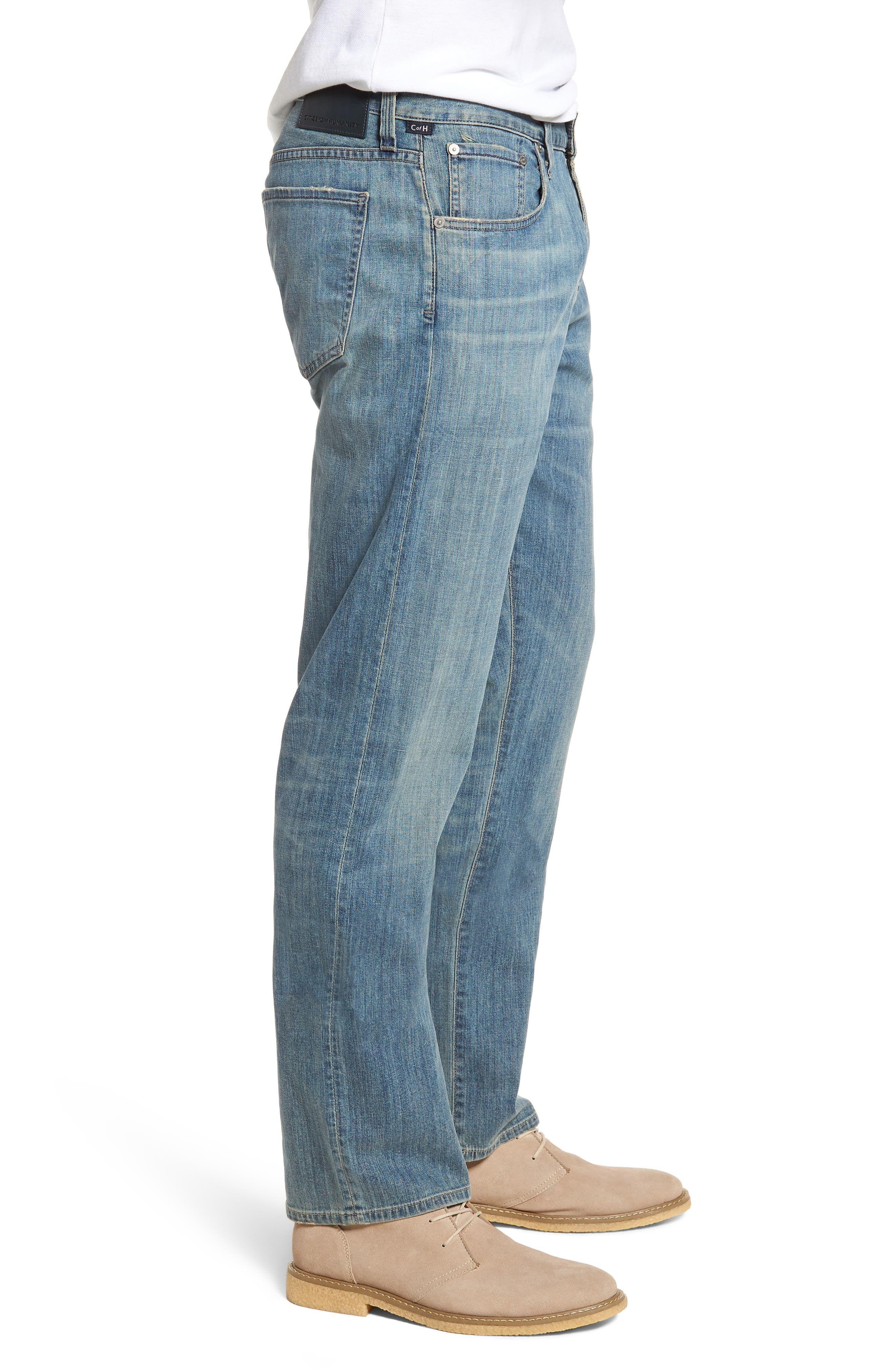 Perfect Relaxed Fit Jeans,                             Alternate thumbnail 3, color,                             Costa