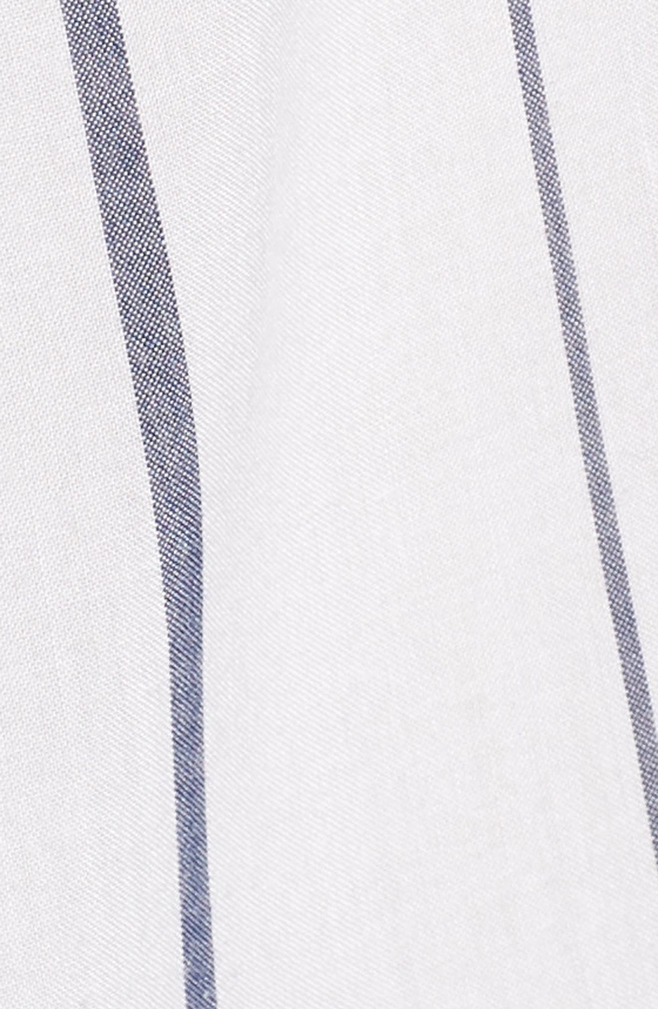 Canyons Stripe Shirt,                             Alternate thumbnail 5, color,                             White/ Navy Stripe
