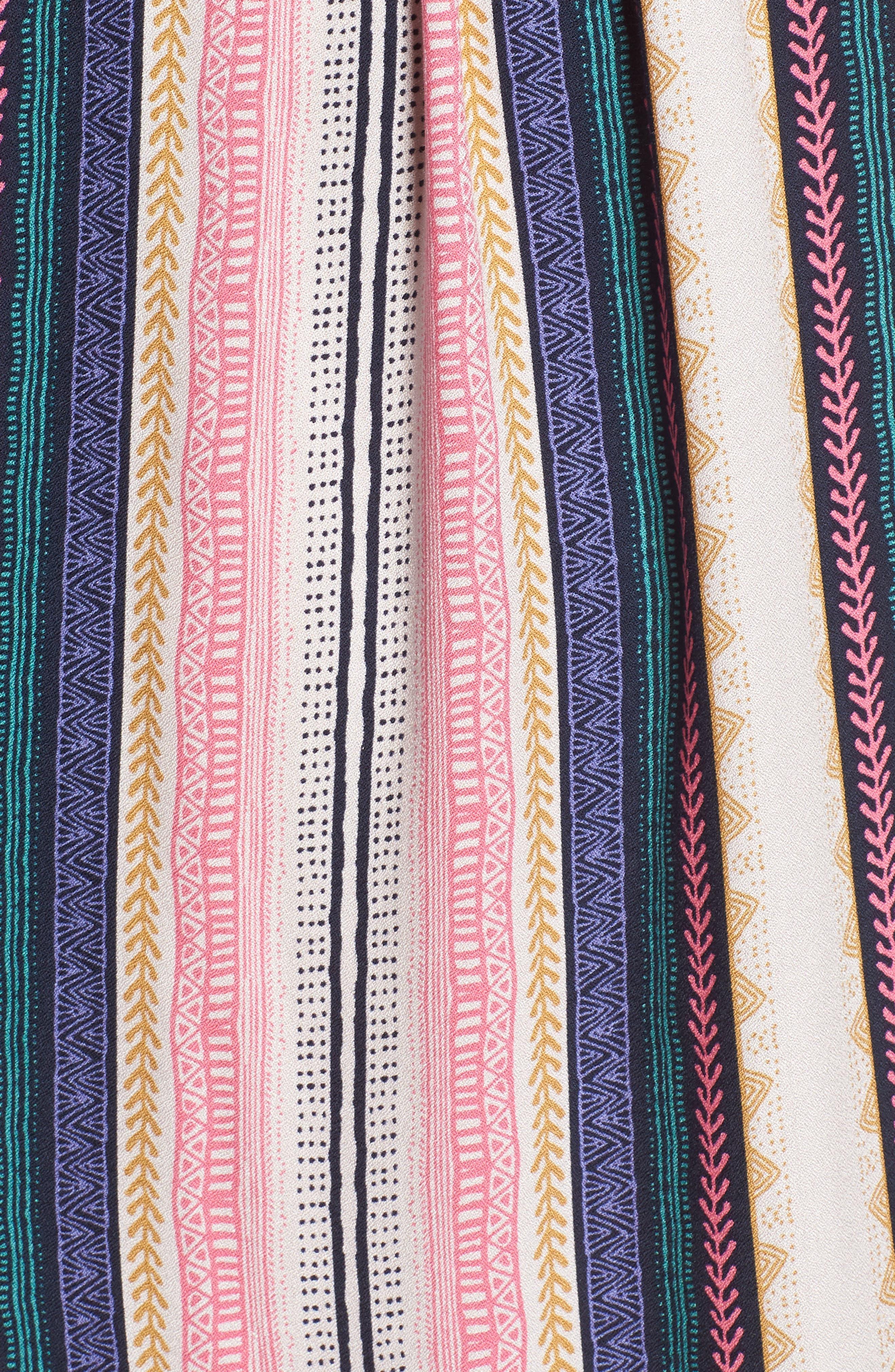 Stripe Maxi Dress,                             Alternate thumbnail 5, color,                             Multi Stripe