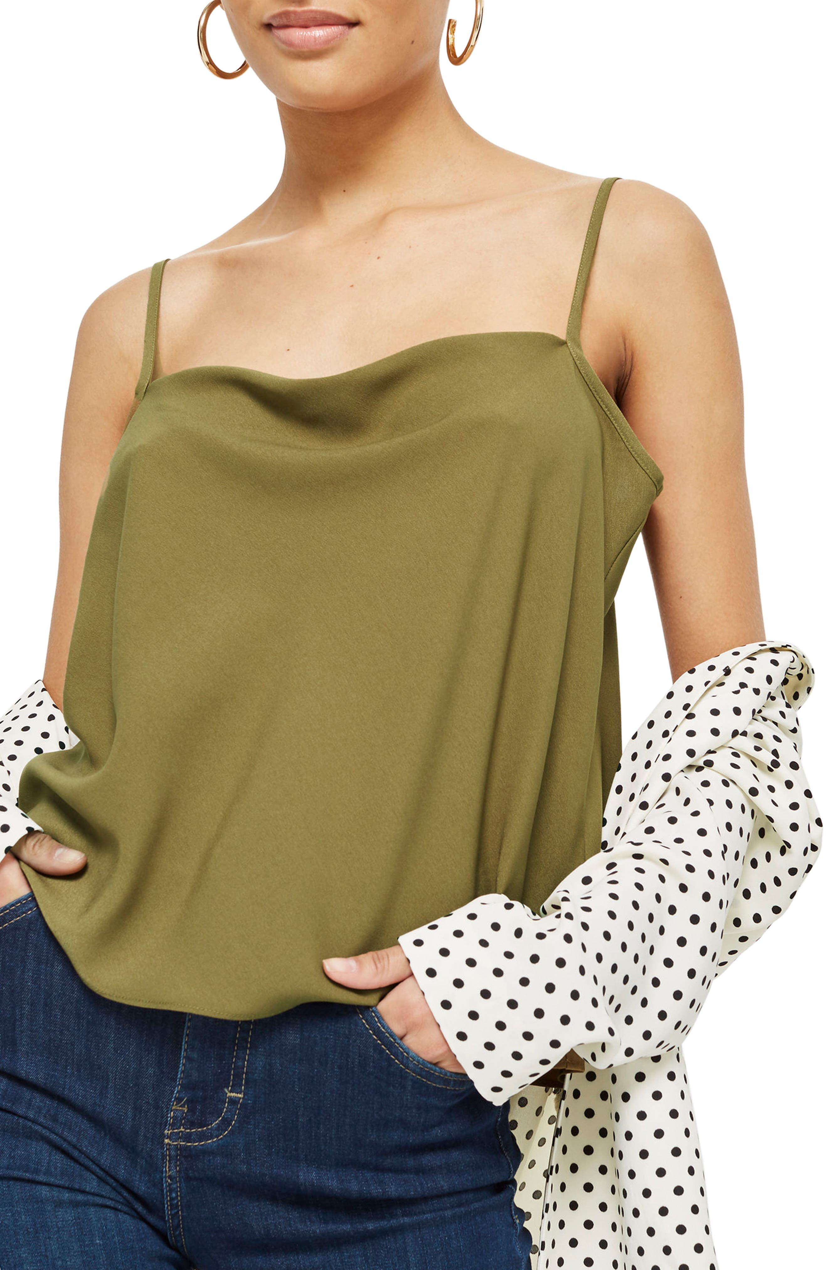 Alternate Image 1 Selected - Topshop Cowl Neck Camisole
