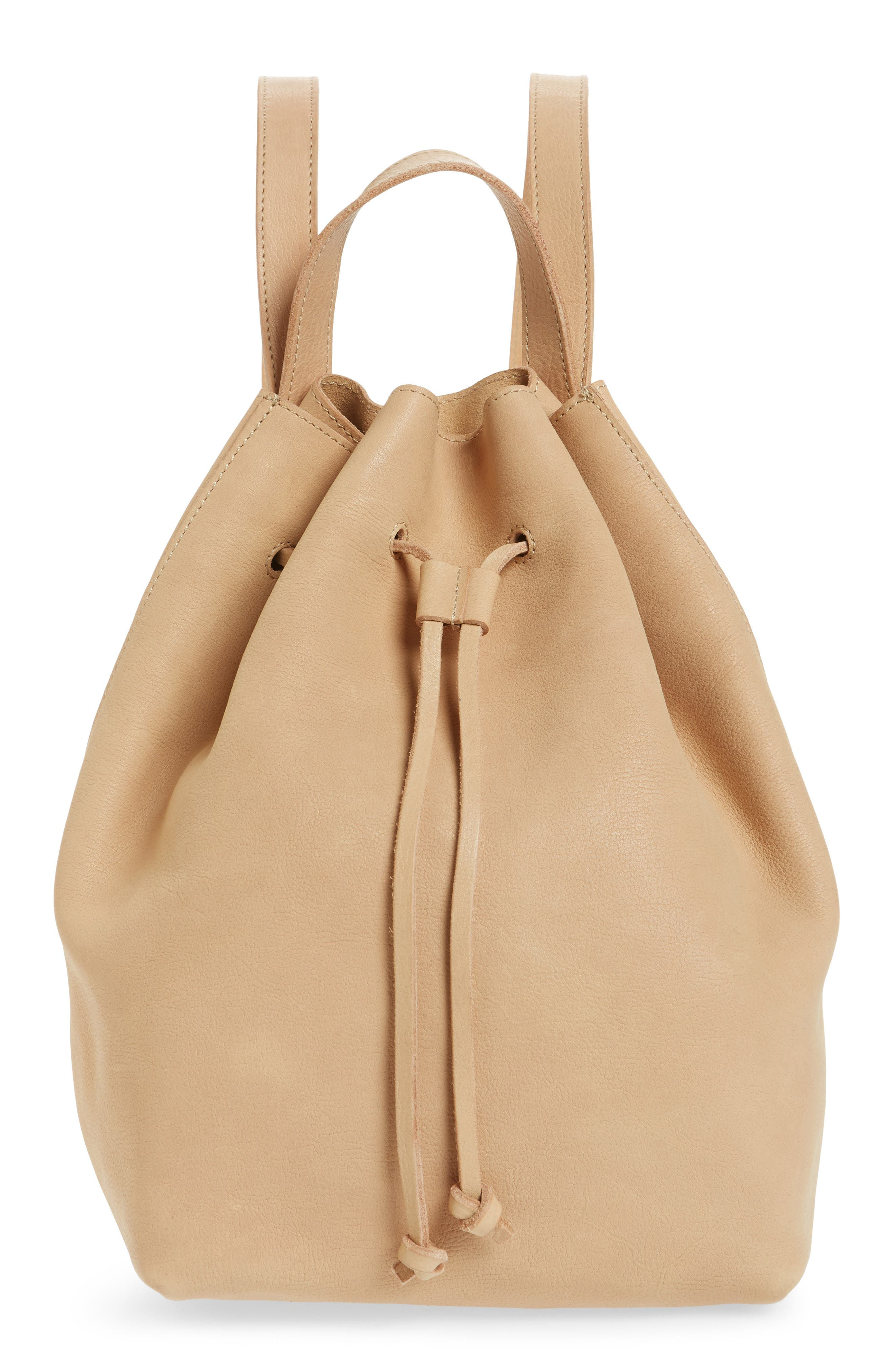 Somerset Leather Backpack,                             Main thumbnail 1, color,                             Linen