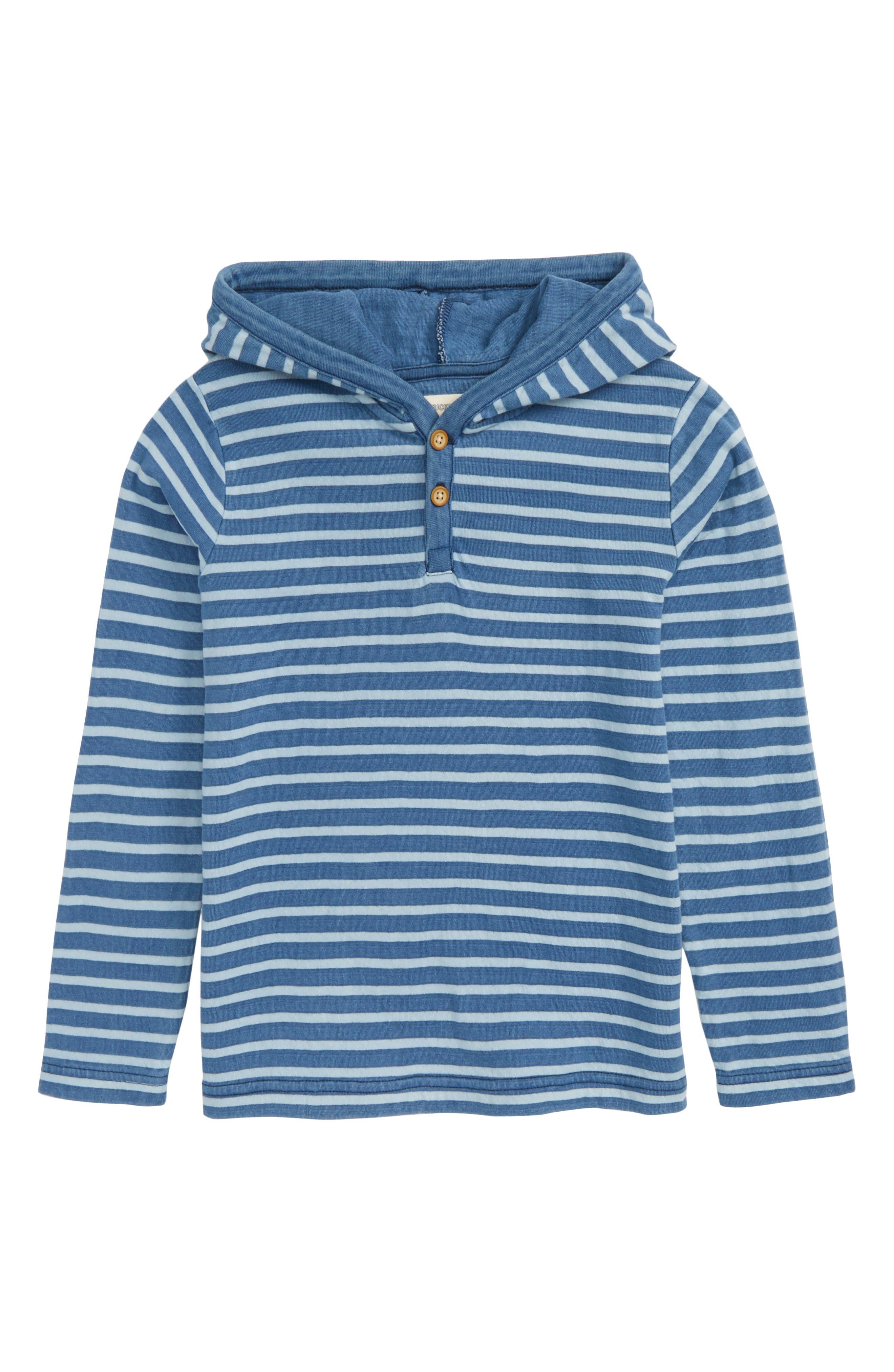 Stripe Hooded Henley,                         Main,                         color, Blue Indigo Stripe