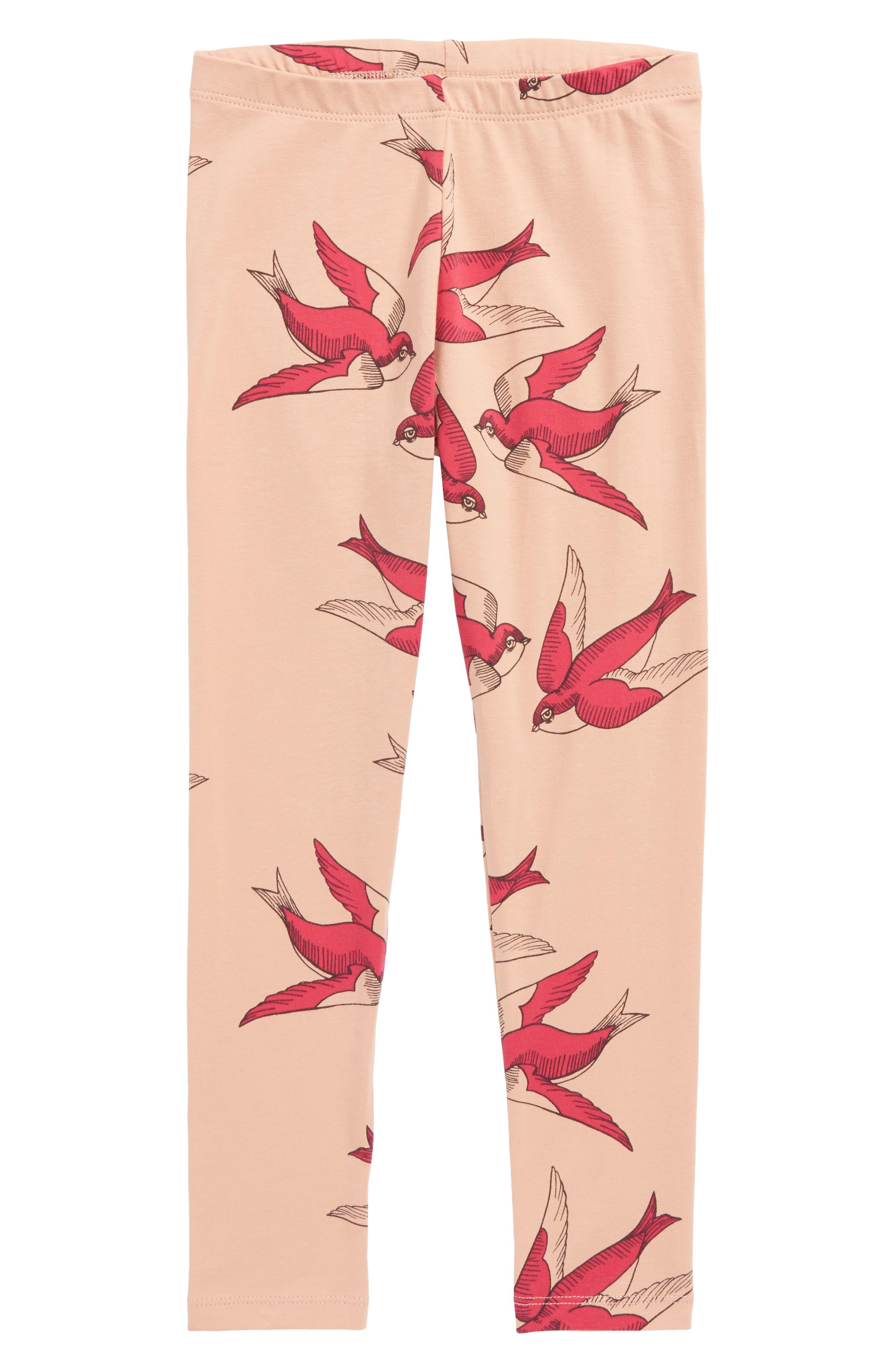 Swallows Leggings,                         Main,                         color, Pink