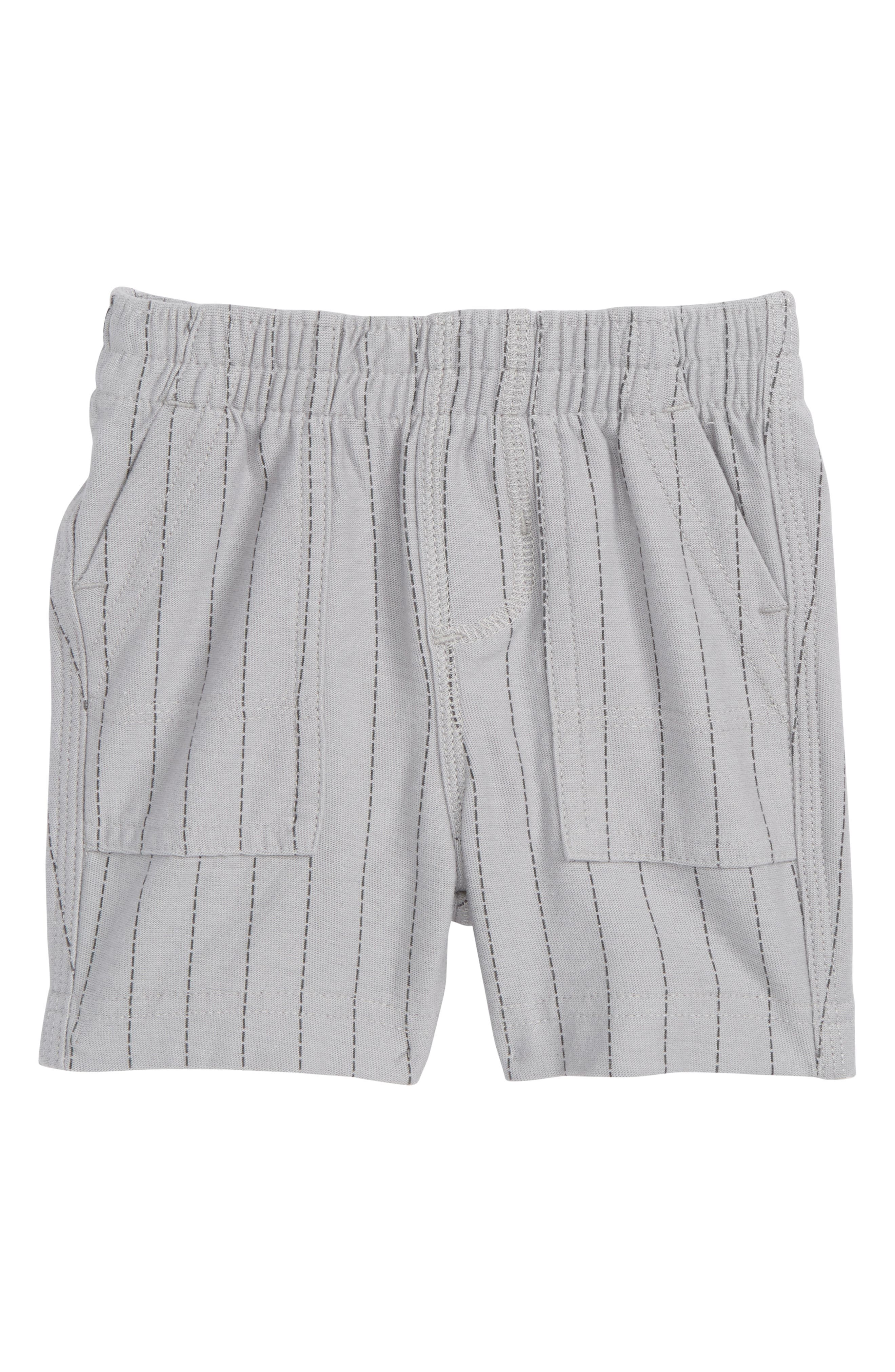 Stripe Shorts,                             Main thumbnail 1, color,                             Storm Grey Ticking Stripe