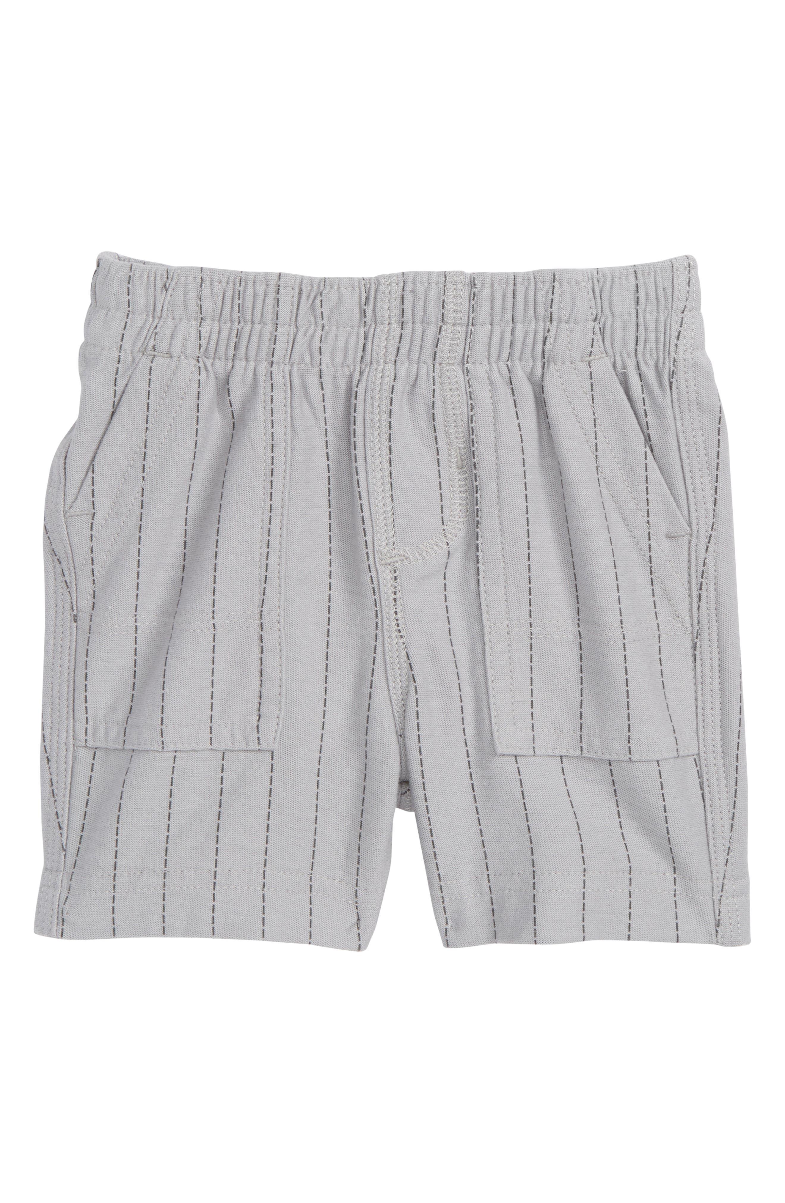 Stripe Shorts,                         Main,                         color, Storm Grey Ticking Stripe