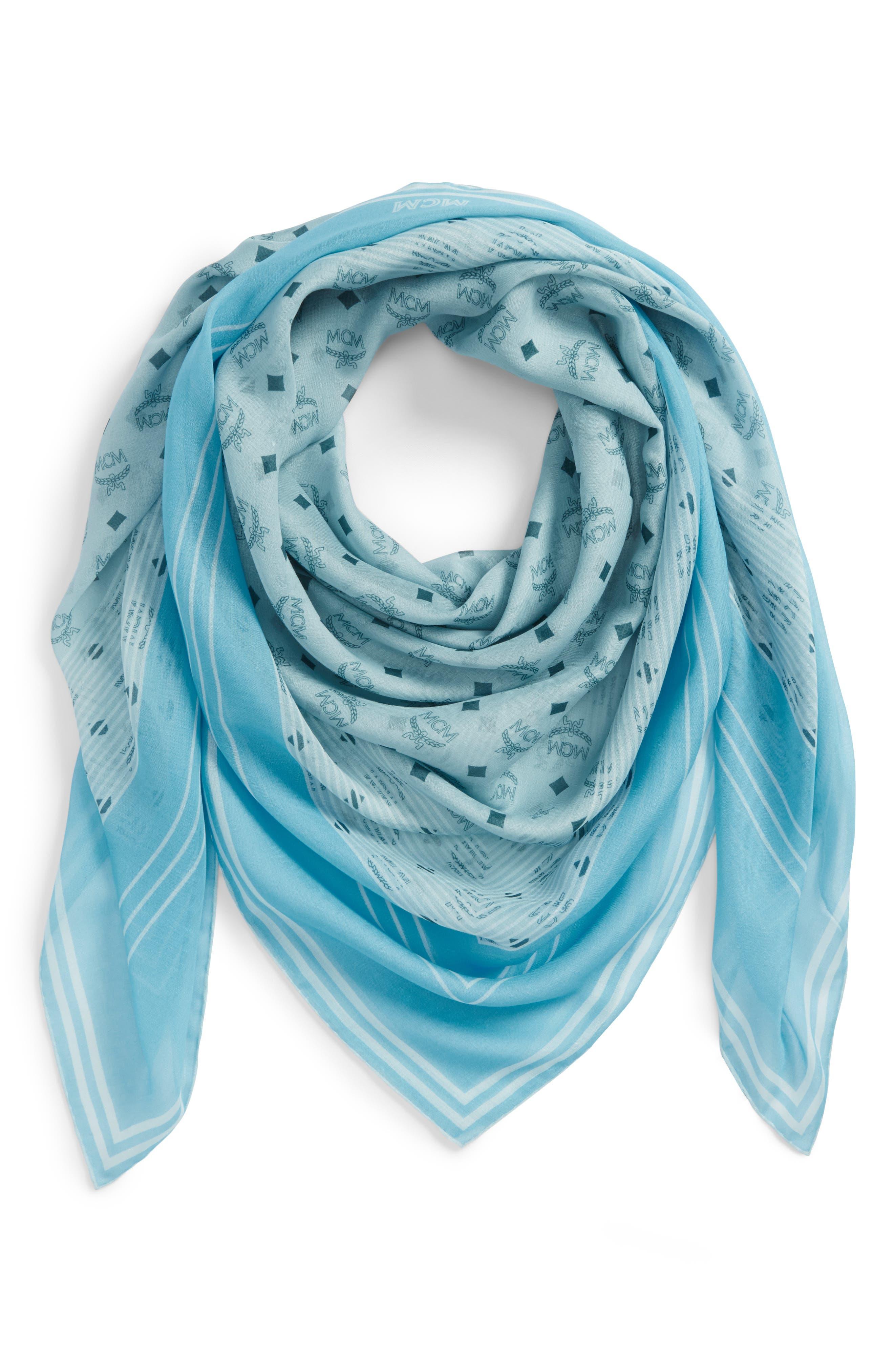 Visetos Stripe Modal & Silk Shawl,                             Alternate thumbnail 2, color,                             Sea Blue