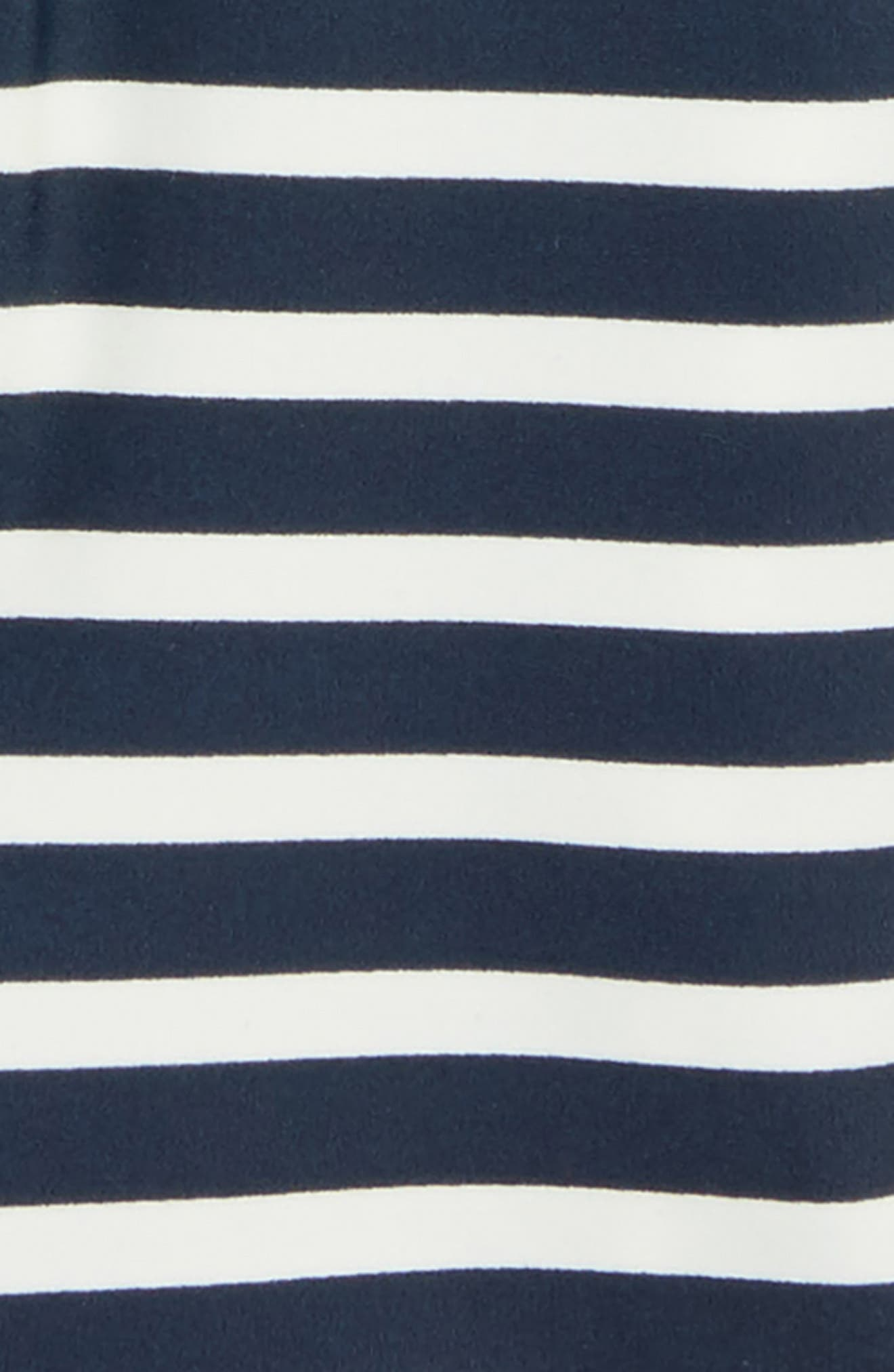 Stripe One-Piece Rashguard Swimsuit,                             Alternate thumbnail 2, color,                             Indigo 2-Color Stripe