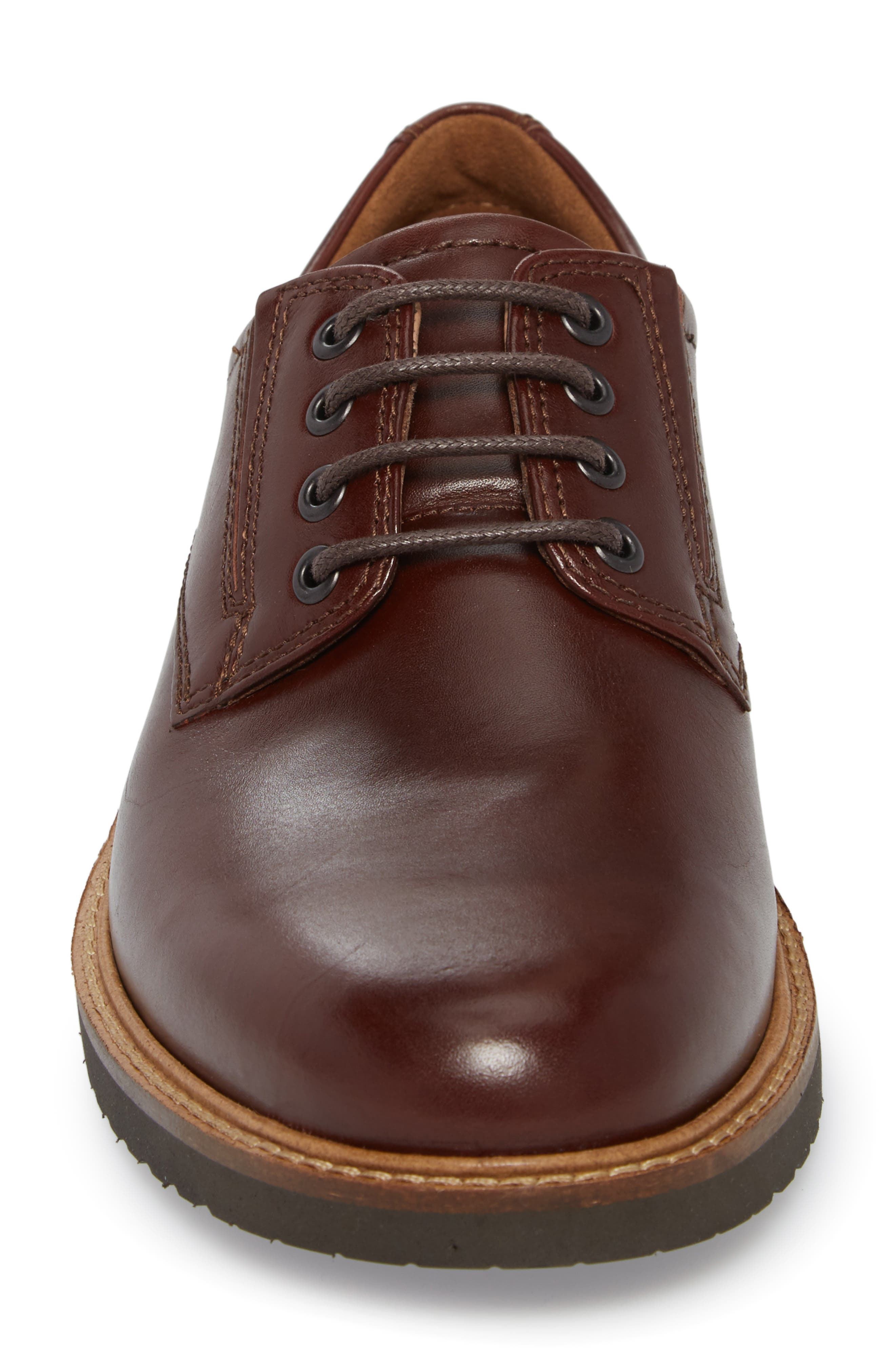 Ian Casual Plain Toe Derby,                             Alternate thumbnail 4, color,                             Mink Leather