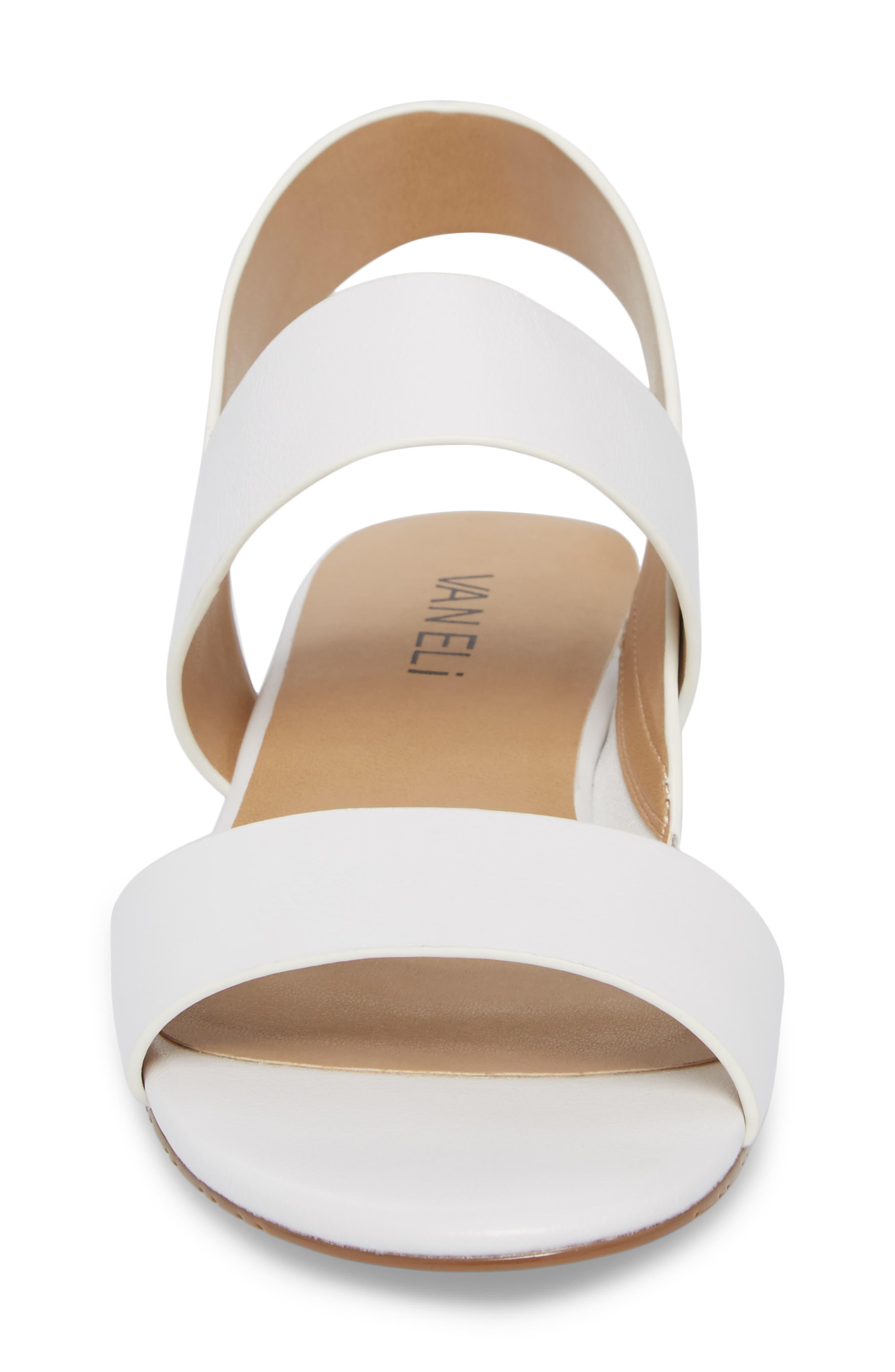 Blanka Sandal,                             Alternate thumbnail 4, color,                             White Leather