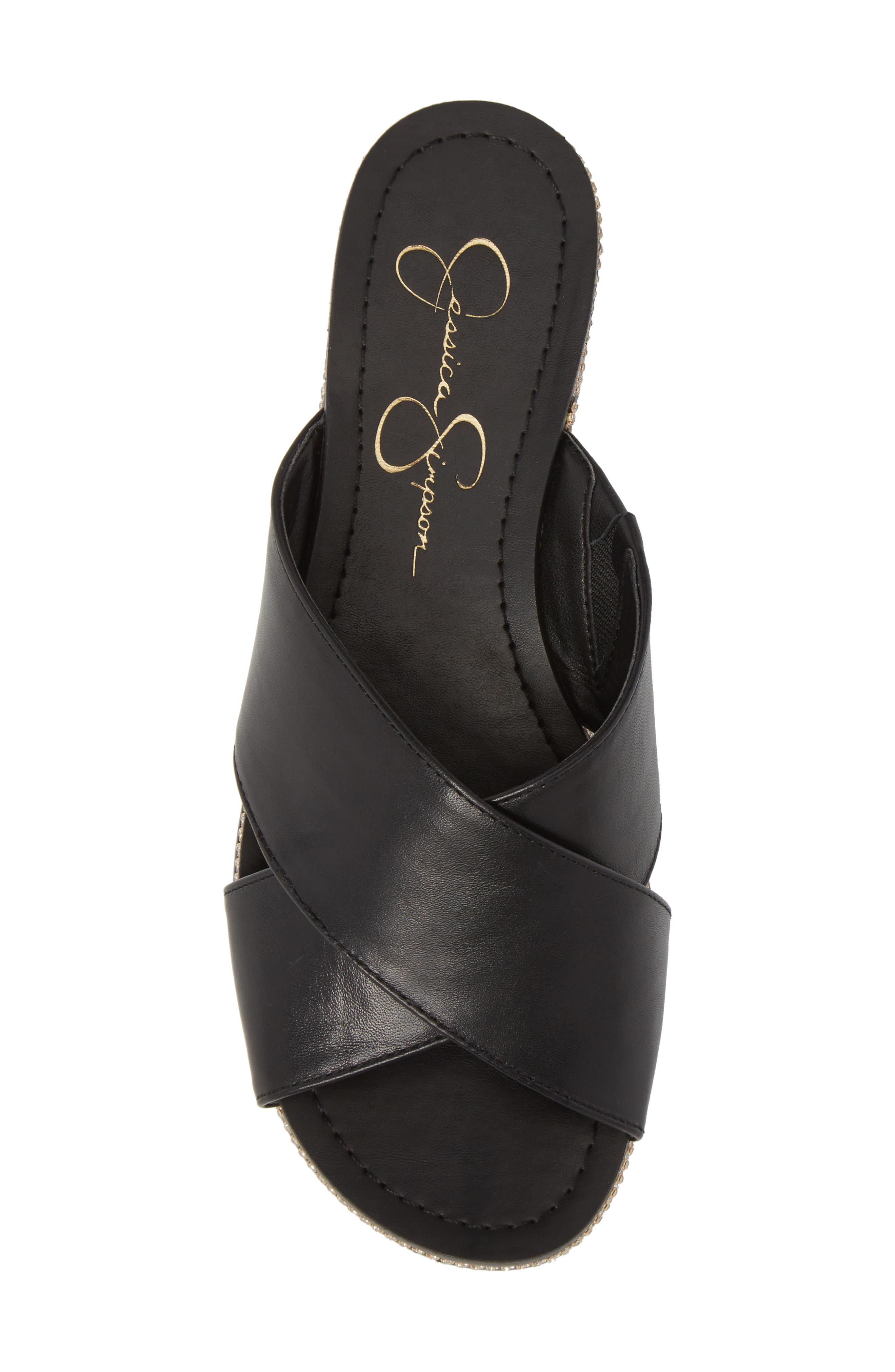 Brinella Sandal,                             Alternate thumbnail 5, color,                             Black