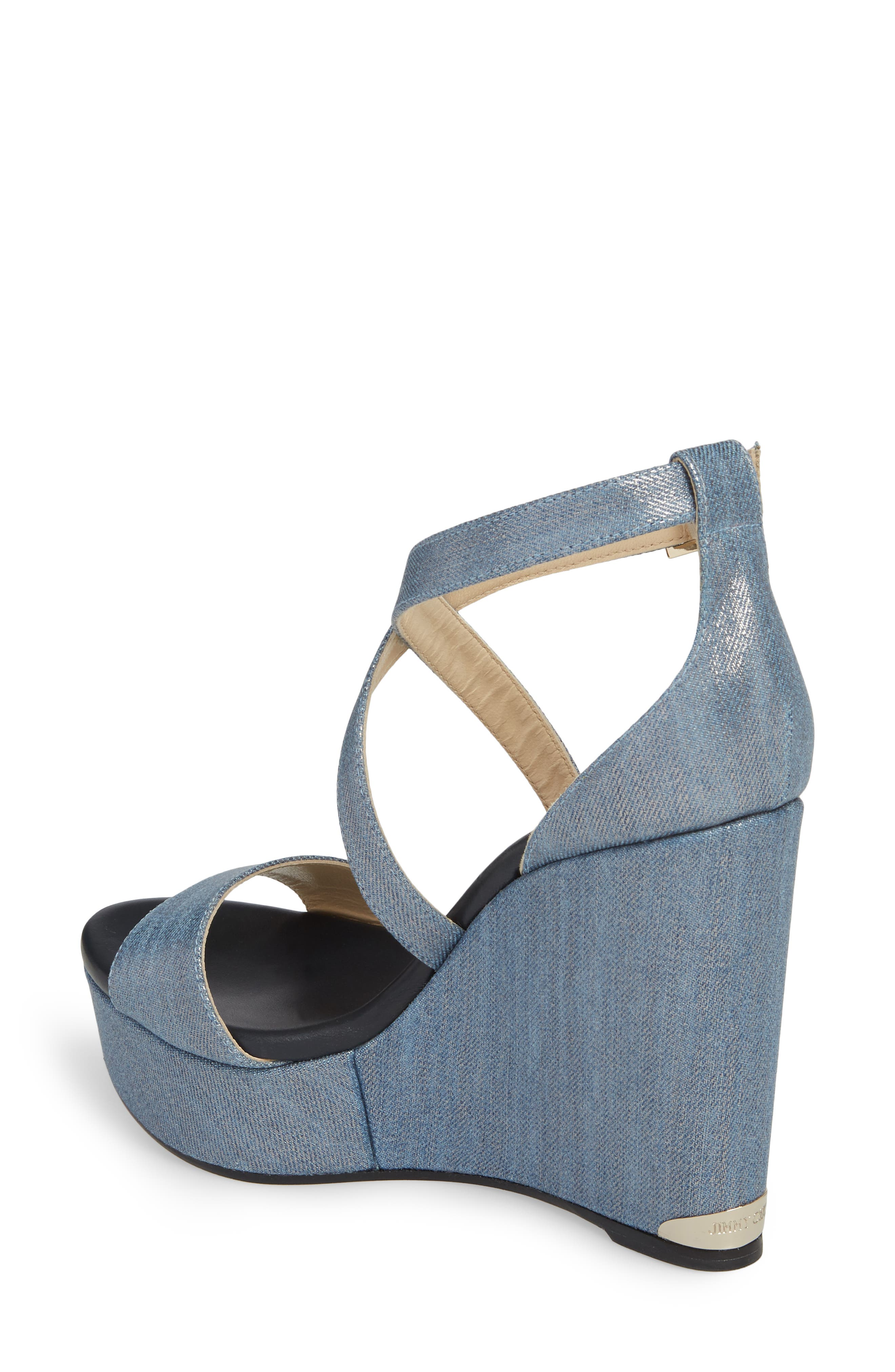 Portia Platform Wedge Sandal,                             Alternate thumbnail 2, color,                             Dusk Blue
