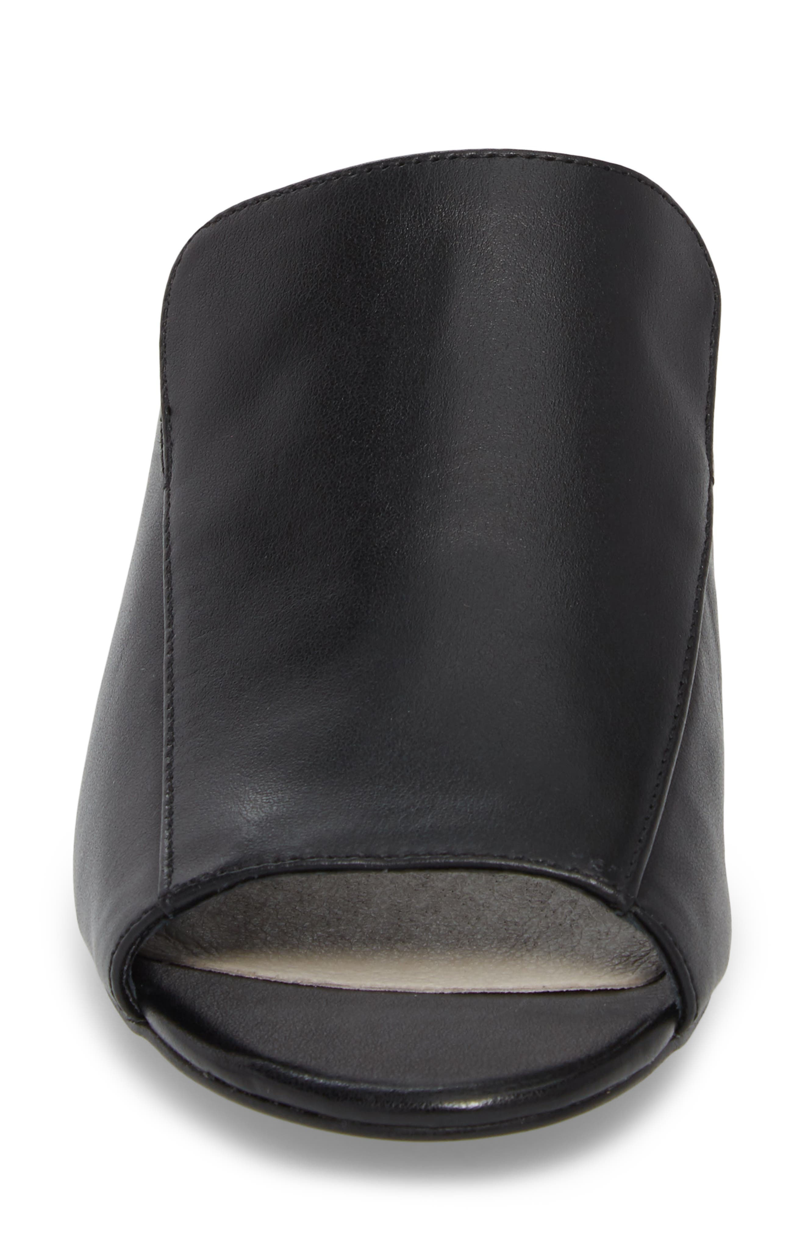 Farley Embellished Mule,                             Alternate thumbnail 4, color,                             Black Leather