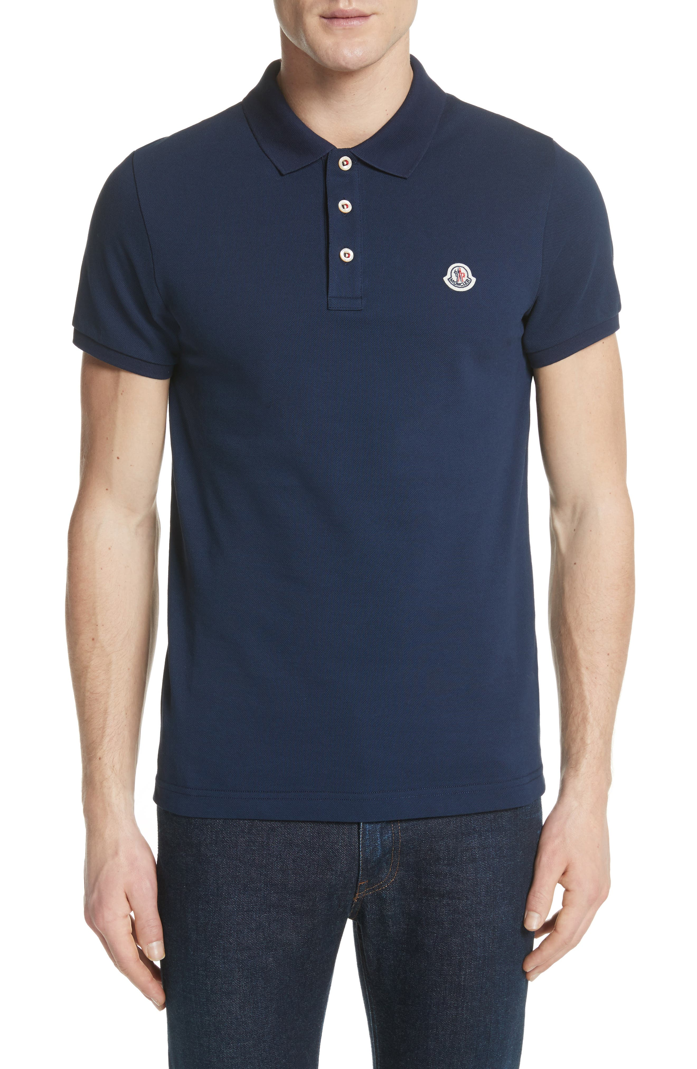 Moncler Flag Placket Piqué Polo