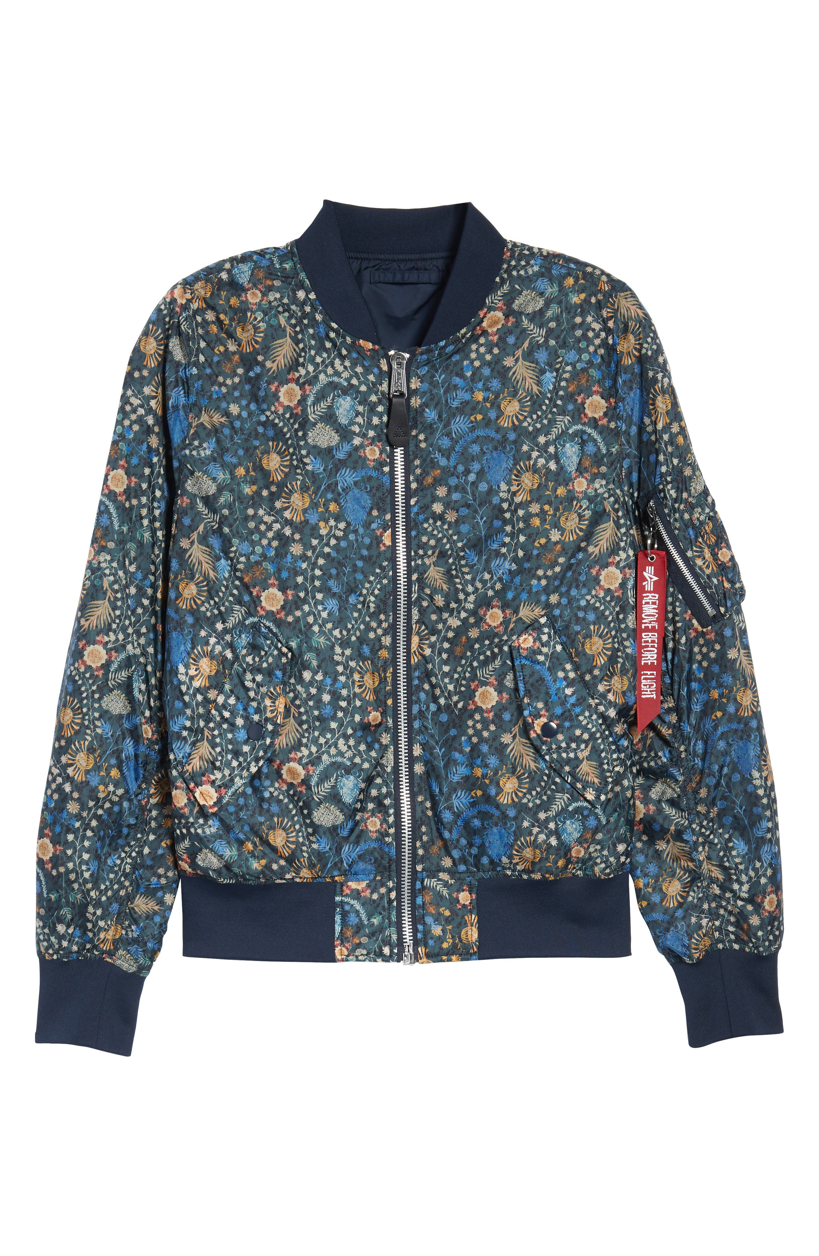 Liberty X L-2B Scout Bomber Jacket,                             Alternate thumbnail 6, color,                             Croquette Meadow