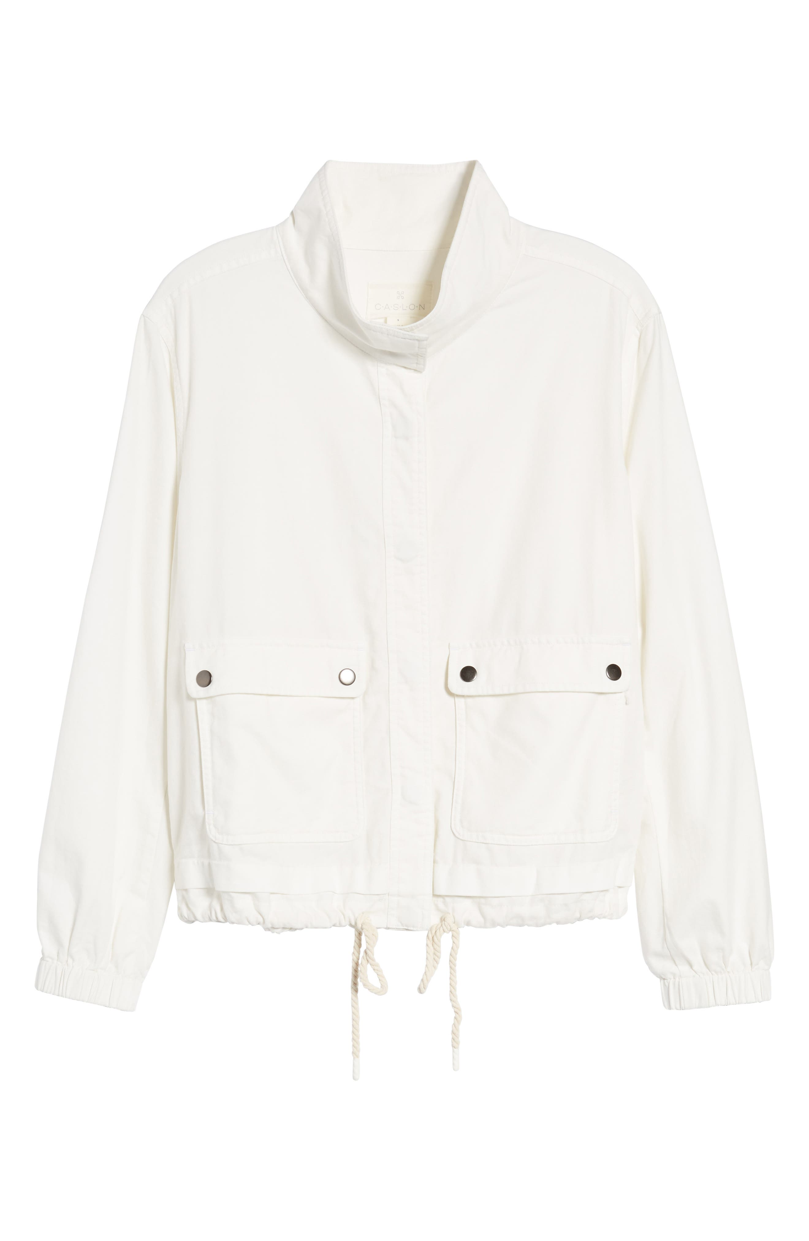 Snap Pocket Utility Jacket,                             Alternate thumbnail 7, color,                             White Snow