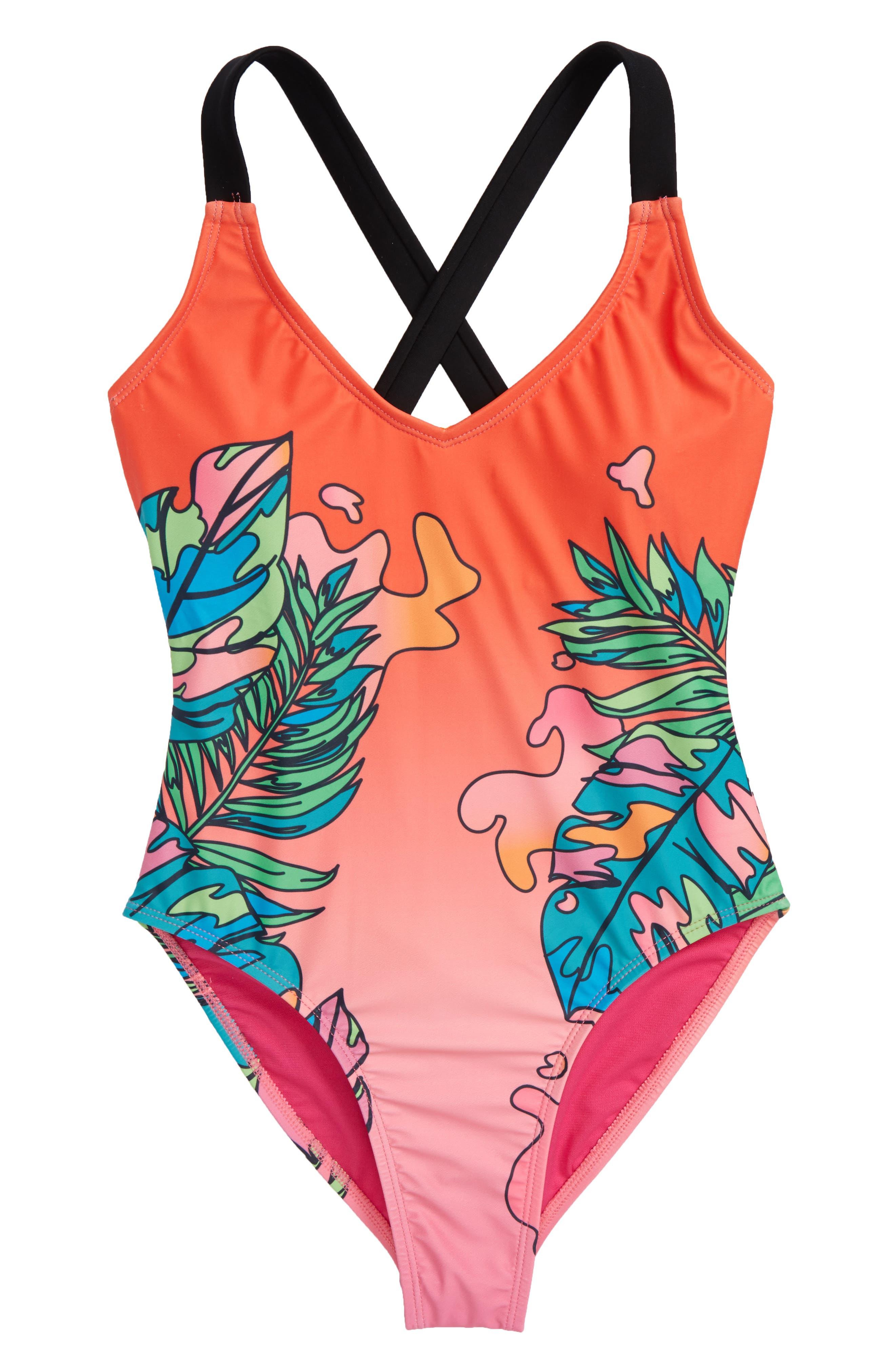 Sadie One-Piece Swimsuit,                         Main,                         color, Multi