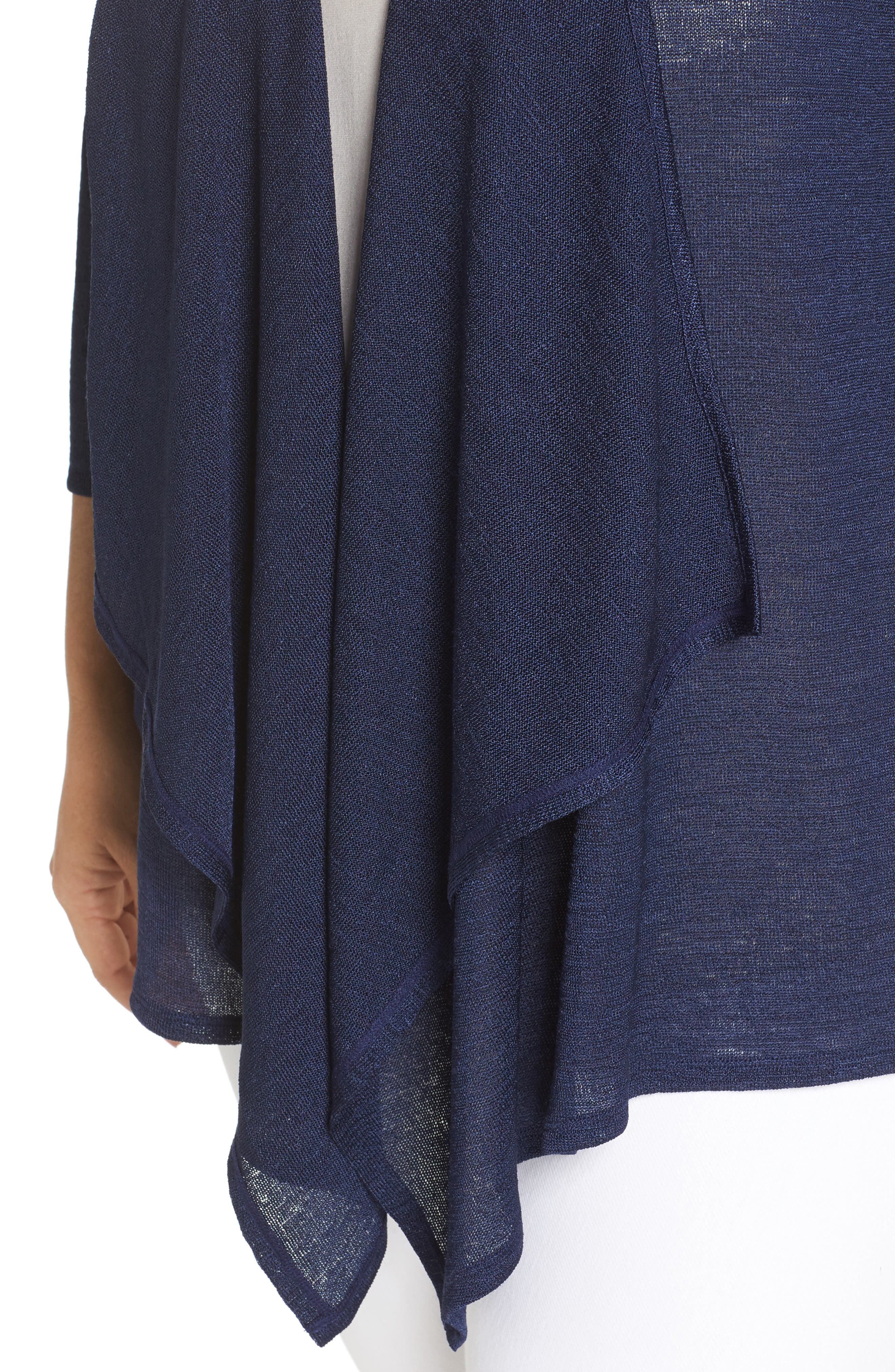 Draped Front Cardigan,                             Alternate thumbnail 4, color,                             True Navy