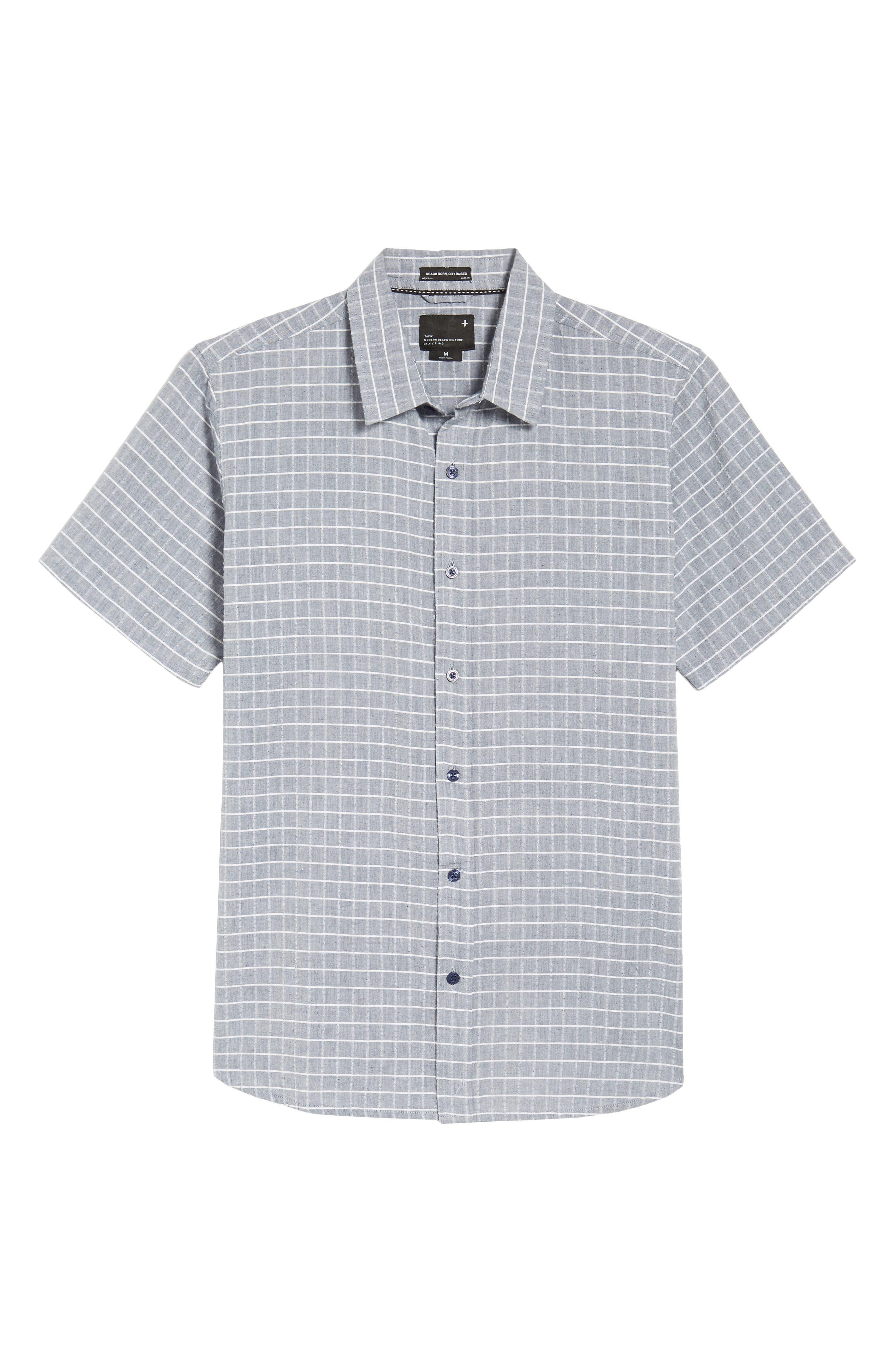 Wesley Woven Shirt,                             Alternate thumbnail 6, color,                             True Blue Stripe