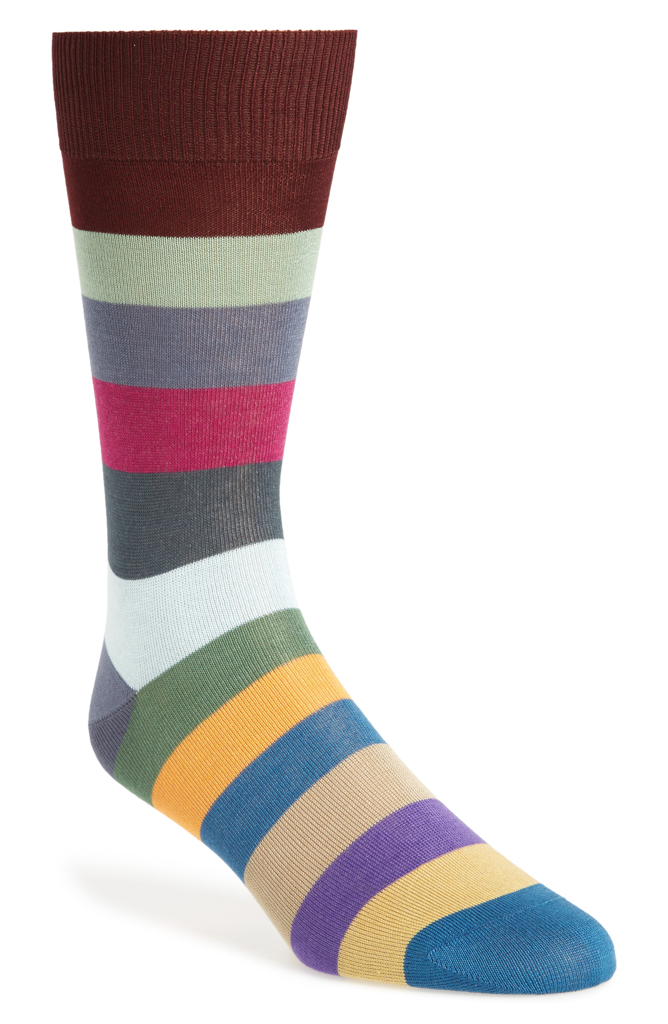 Alternate Image 1 Selected - Paul Smith Tie Stripe Socks
