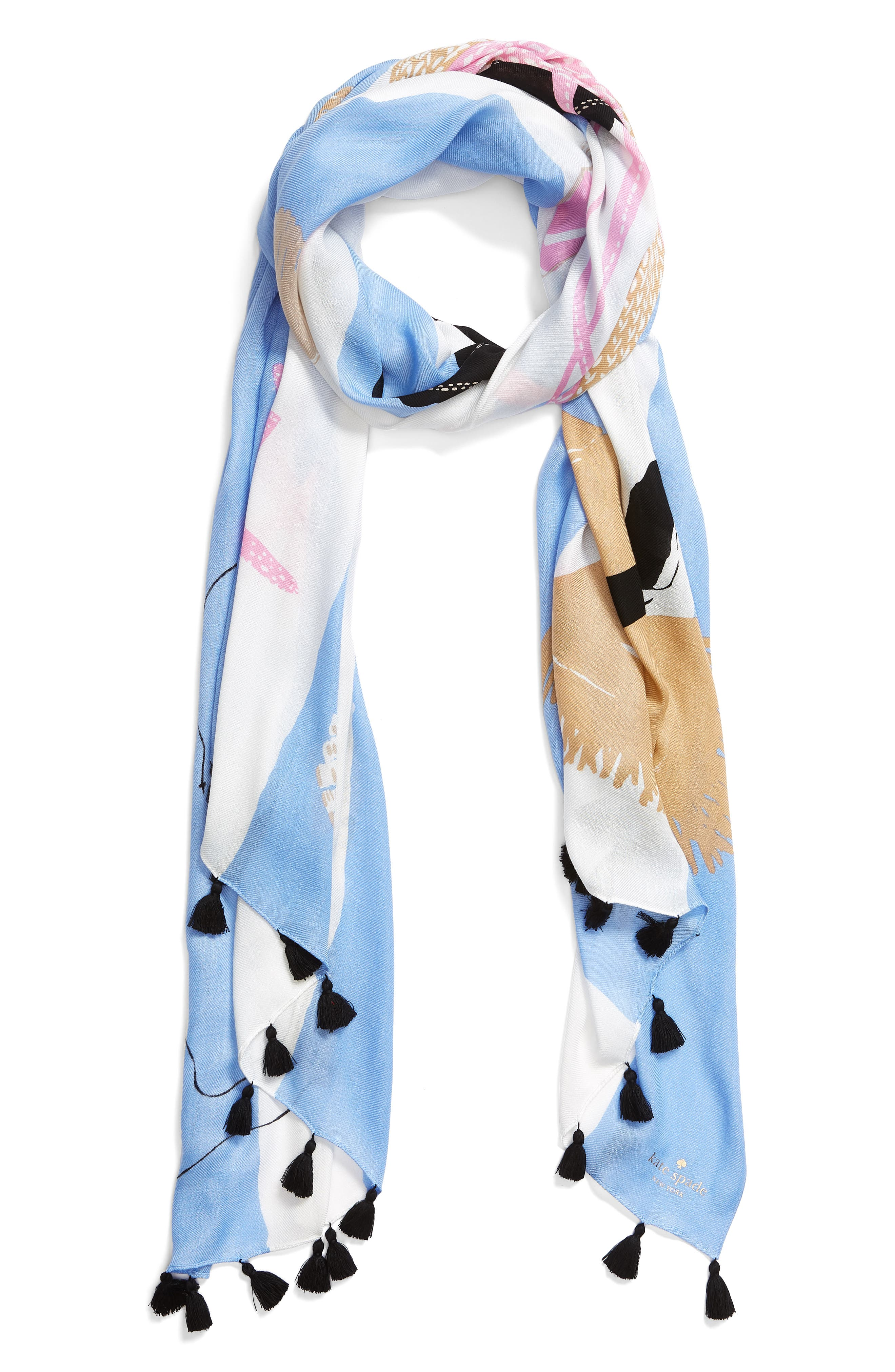beach towel scarf,                             Alternate thumbnail 3, color,                             Cream