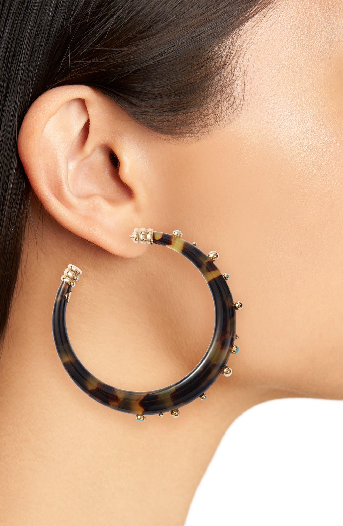 Celeste Hoop Earrings,                             Alternate thumbnail 2, color,                             Gold