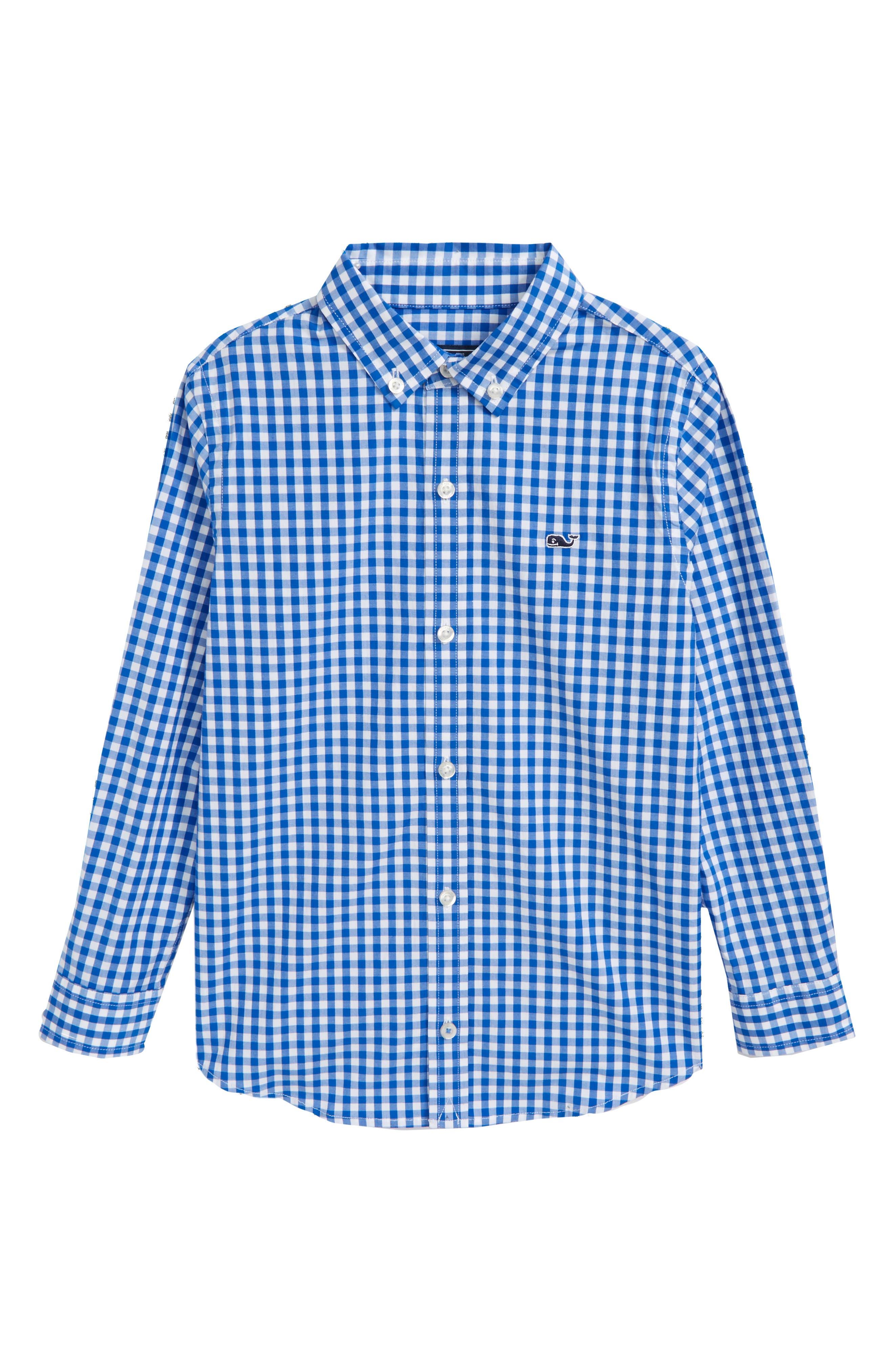Carleton Gingham Shirt,                             Main thumbnail 1, color,                             Spinnaker