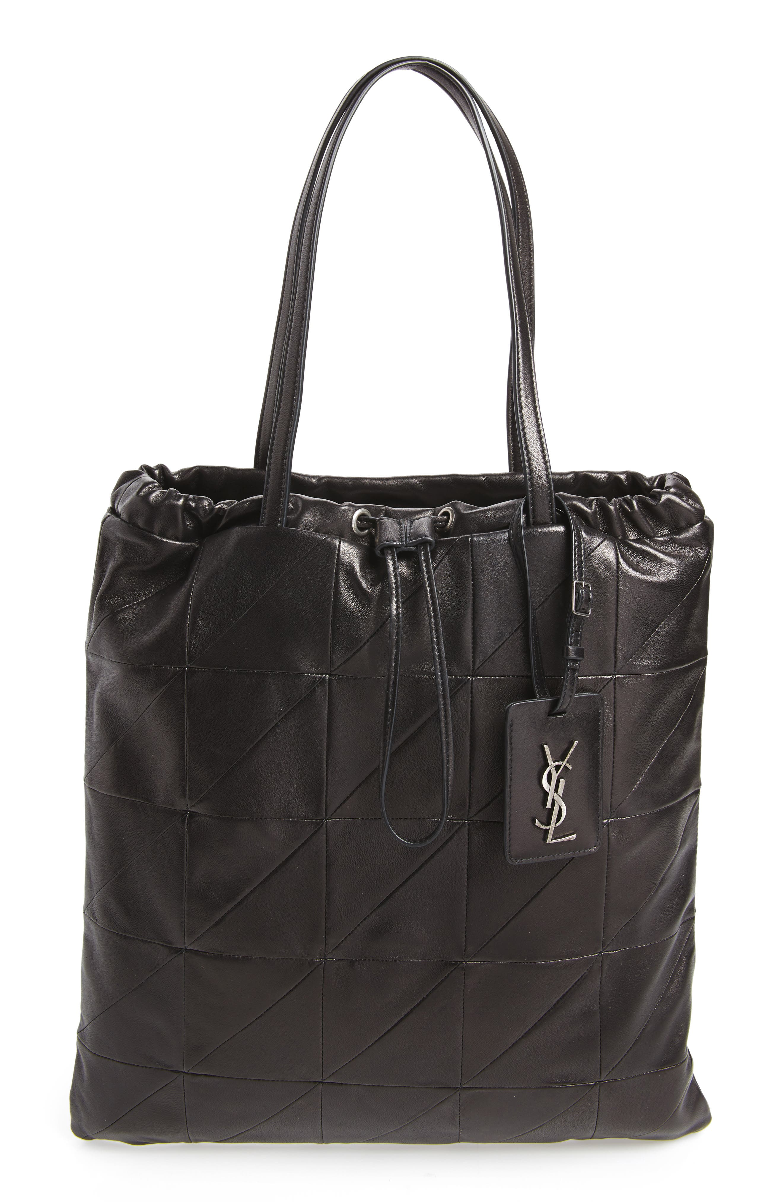 Antibe Flat Leather Shopper,                         Main,                         color, Noir