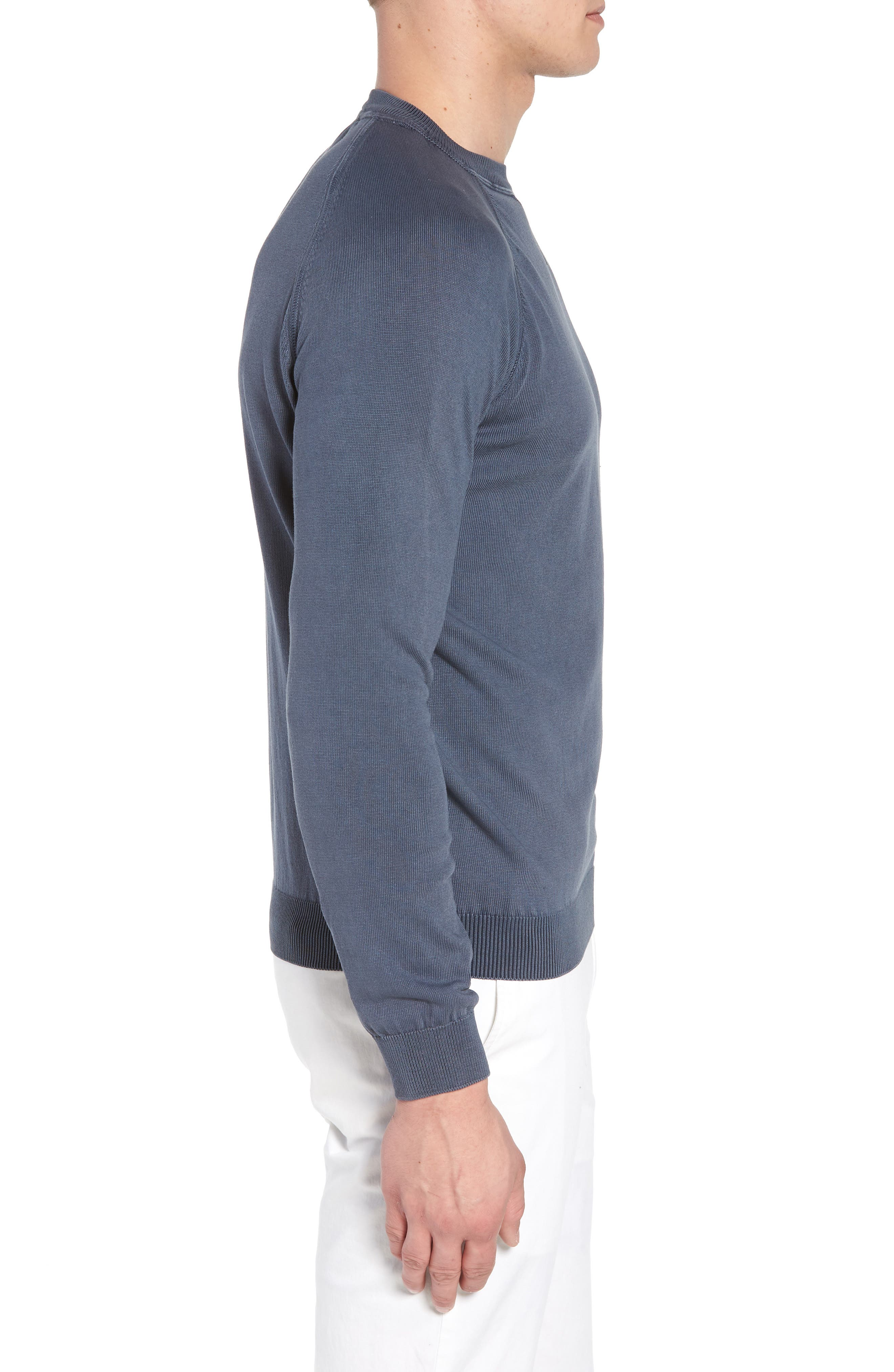 Alternate Image 3  - David Donahue Stonewash Cotton Sweatshirt