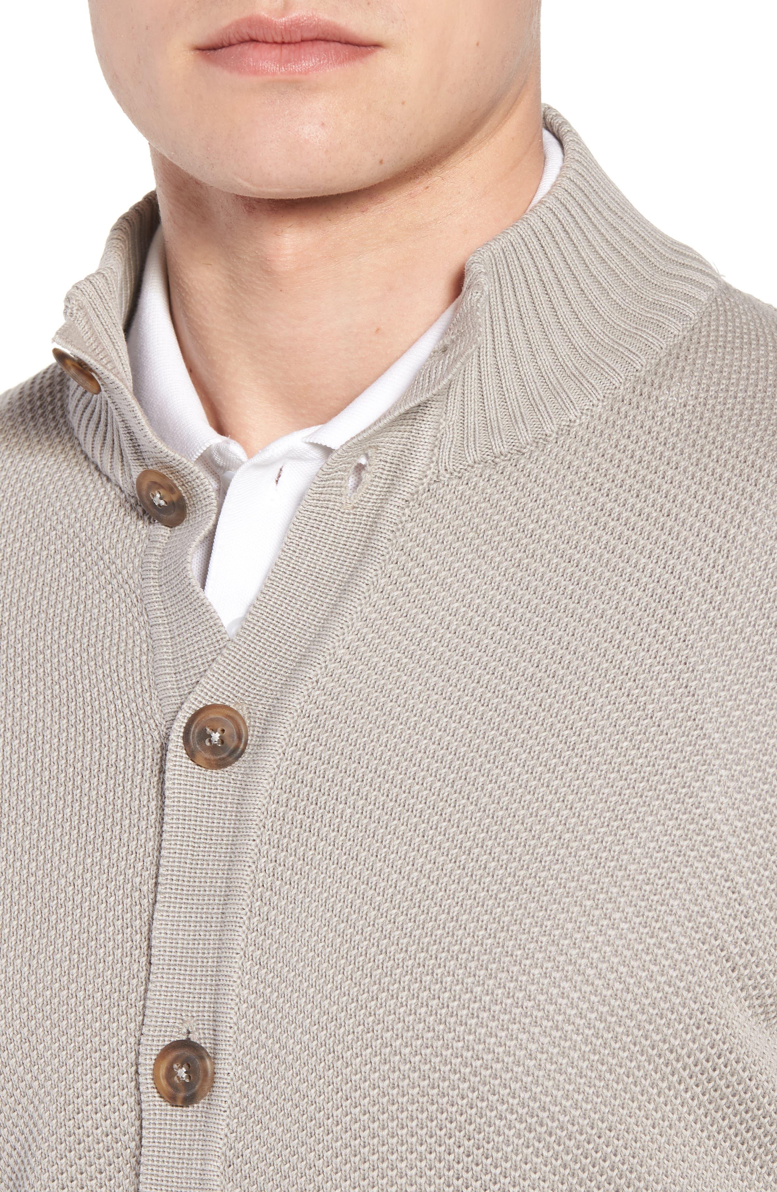 Stonewash Cotton Cardigan,                             Alternate thumbnail 4, color,                             Washed Stone