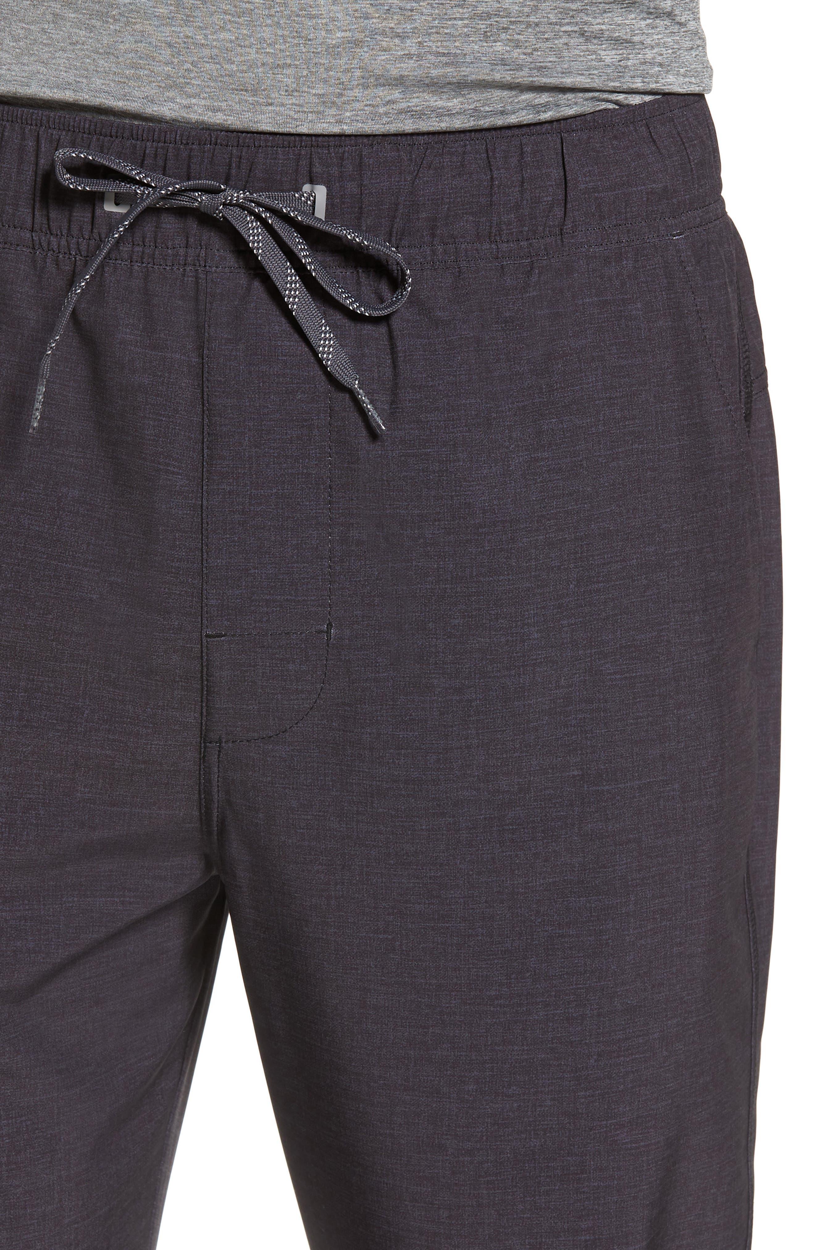 Spencer Jogger Pants,                             Alternate thumbnail 4, color,                             Black Heather