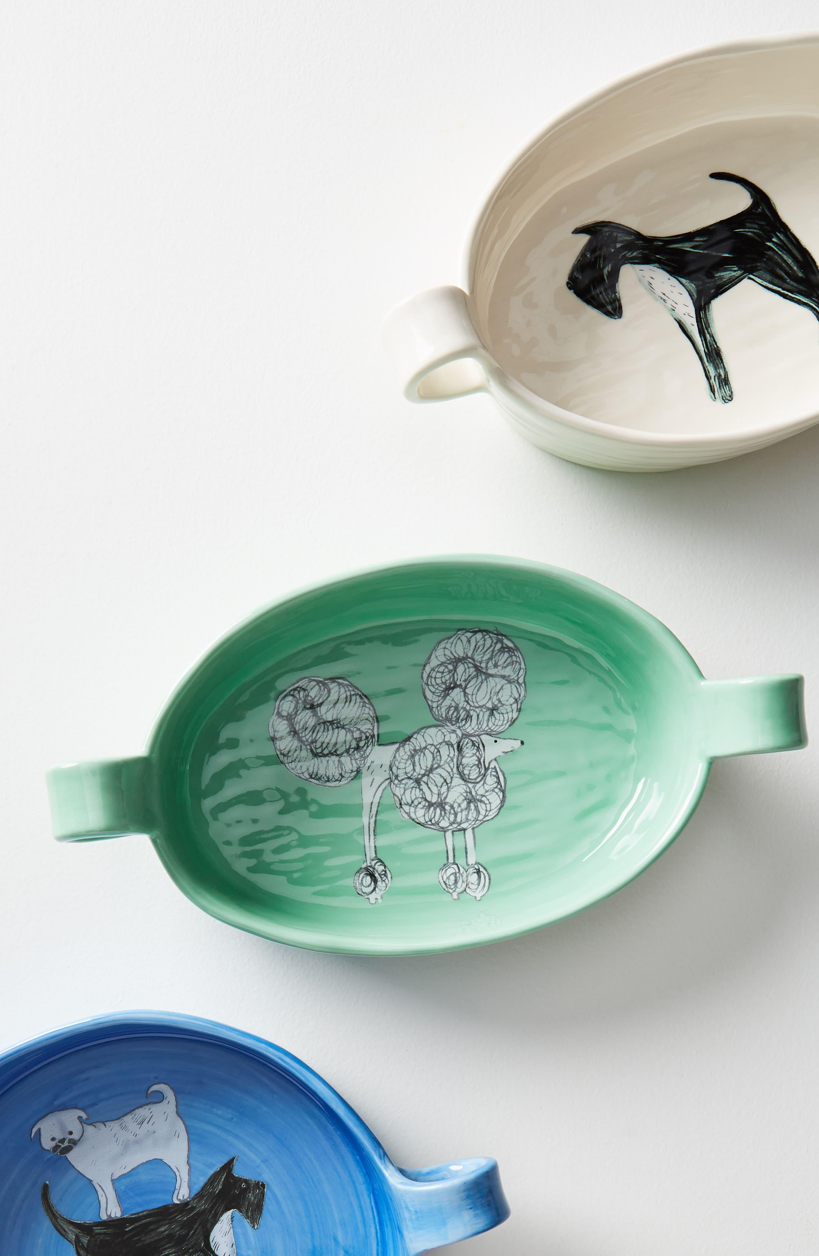 Painted Pup Stoneware Gratin Dish,                             Alternate thumbnail 3, color,                             Scottie