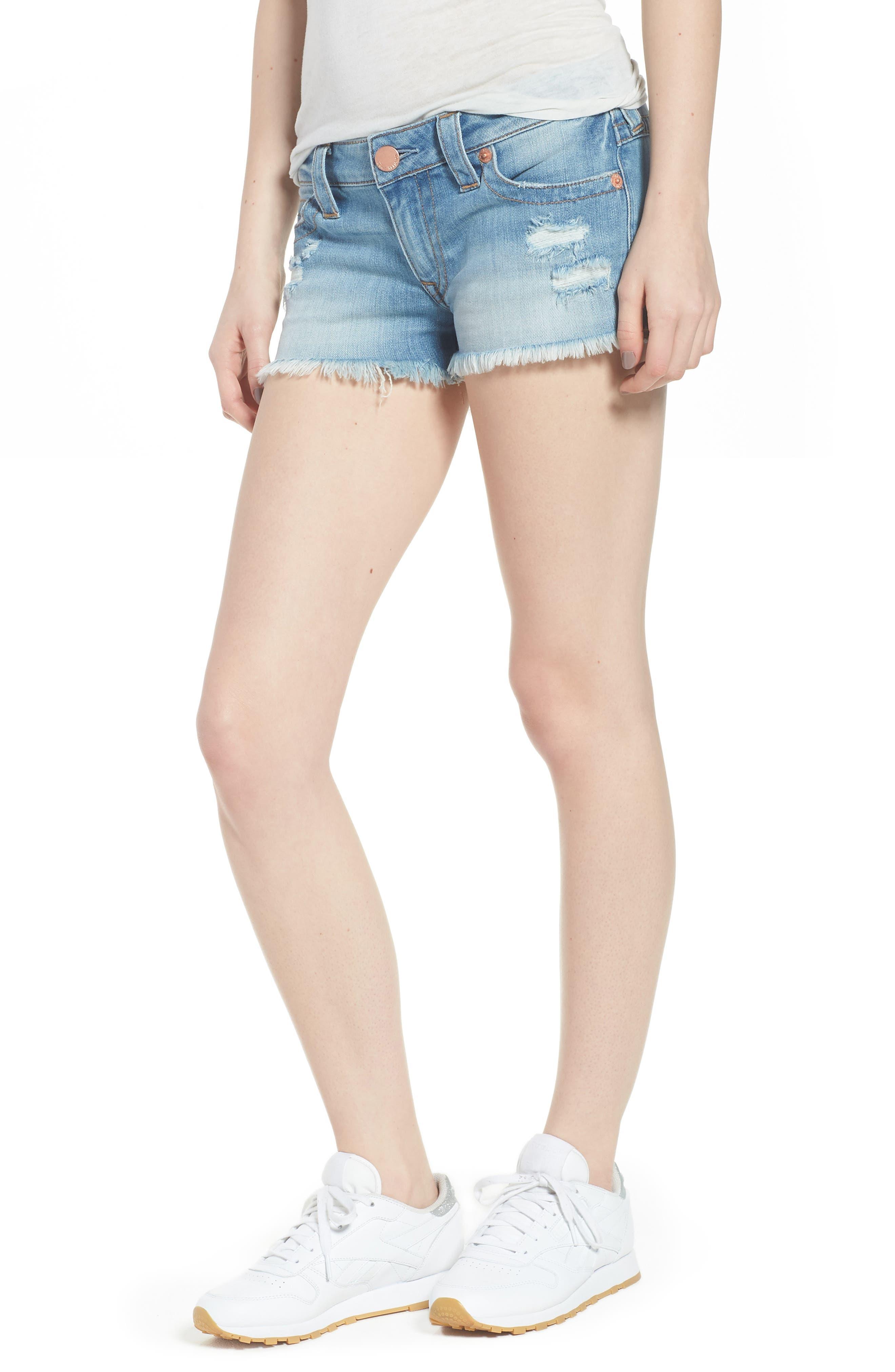 True Religion Brand Jeans Joey Flap Pocket Cutoff Denim Shorts (Third Quarter)