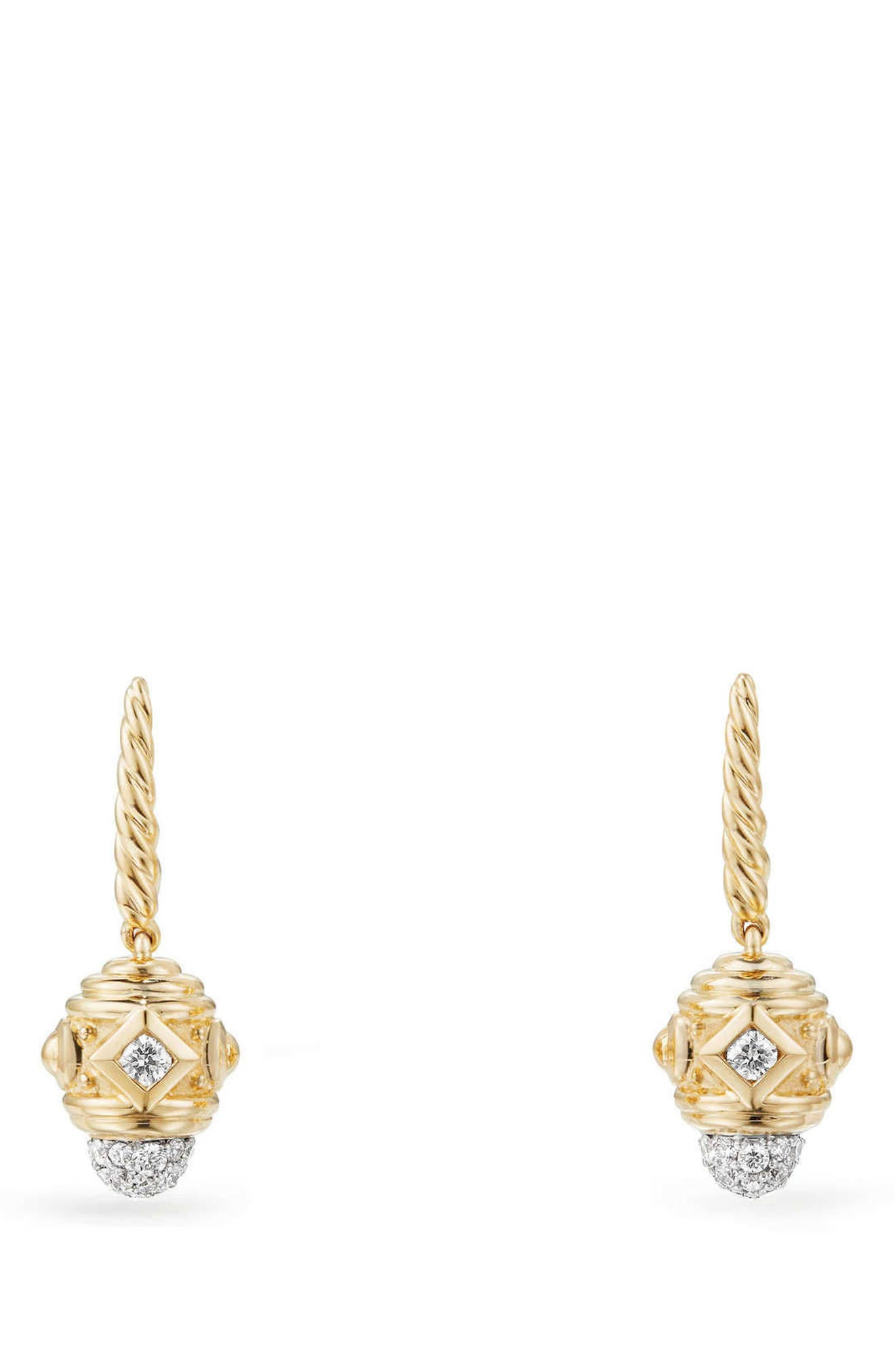 Renaissance Drop Earrings with Diamonds in 18K Gold,                         Main,                         color, Gold/ Diamond
