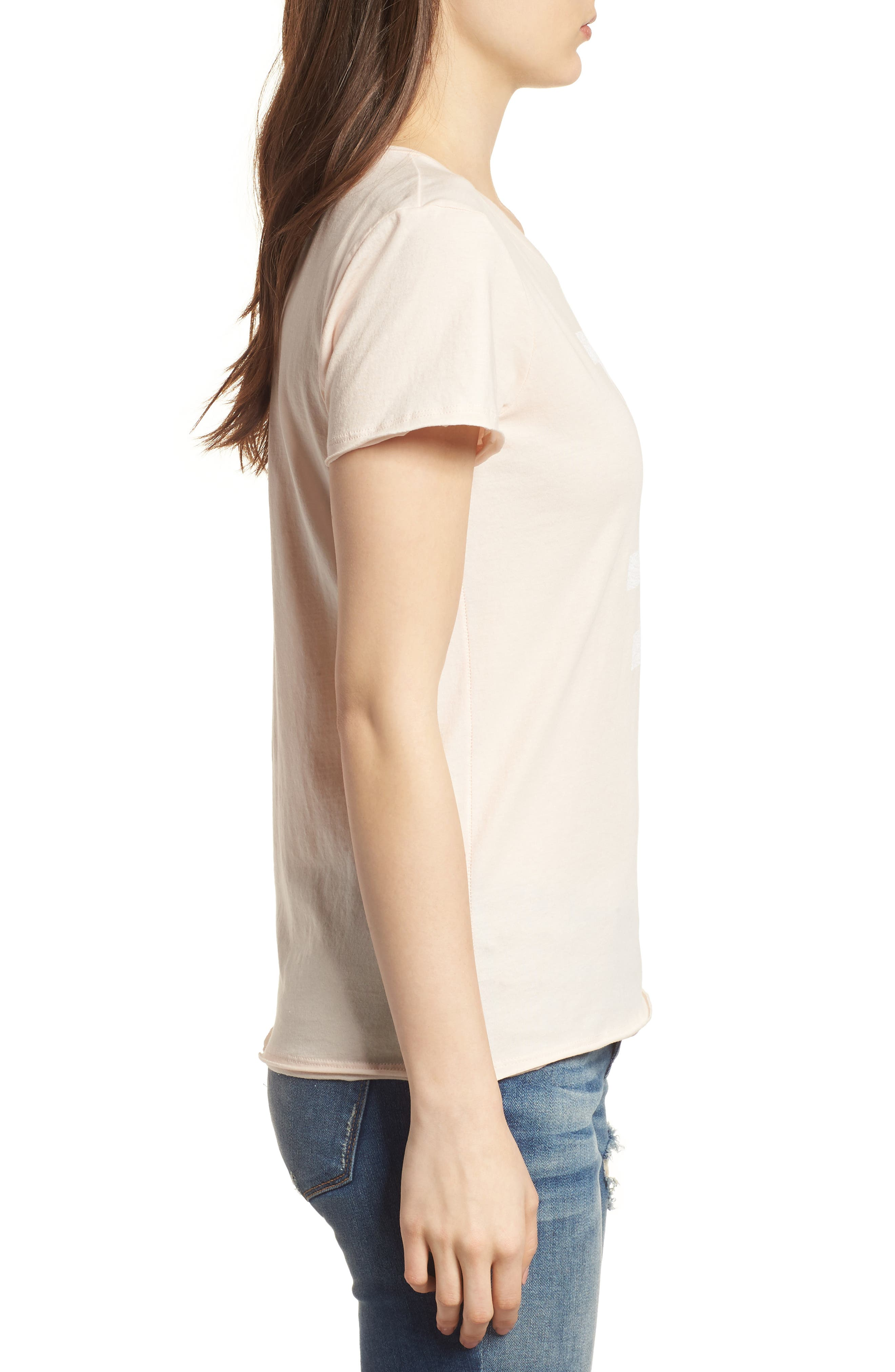 Los Angeles Dodgers Fader Letter Tee,                             Alternate thumbnail 3, color,                             Blush