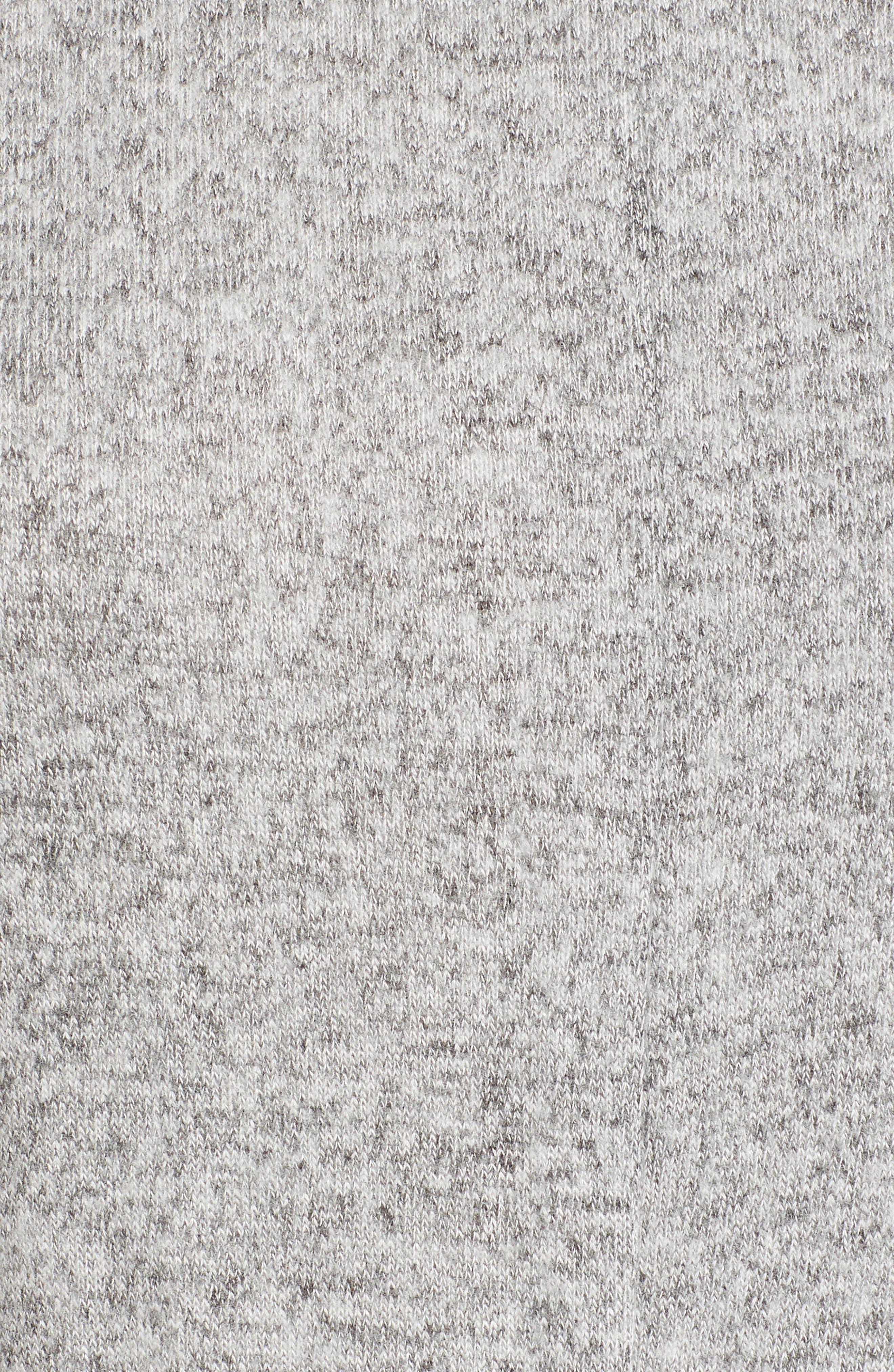 Caslon Off-Duty Tie Front Knit Dress,                             Alternate thumbnail 5, color,                             Grey Heather