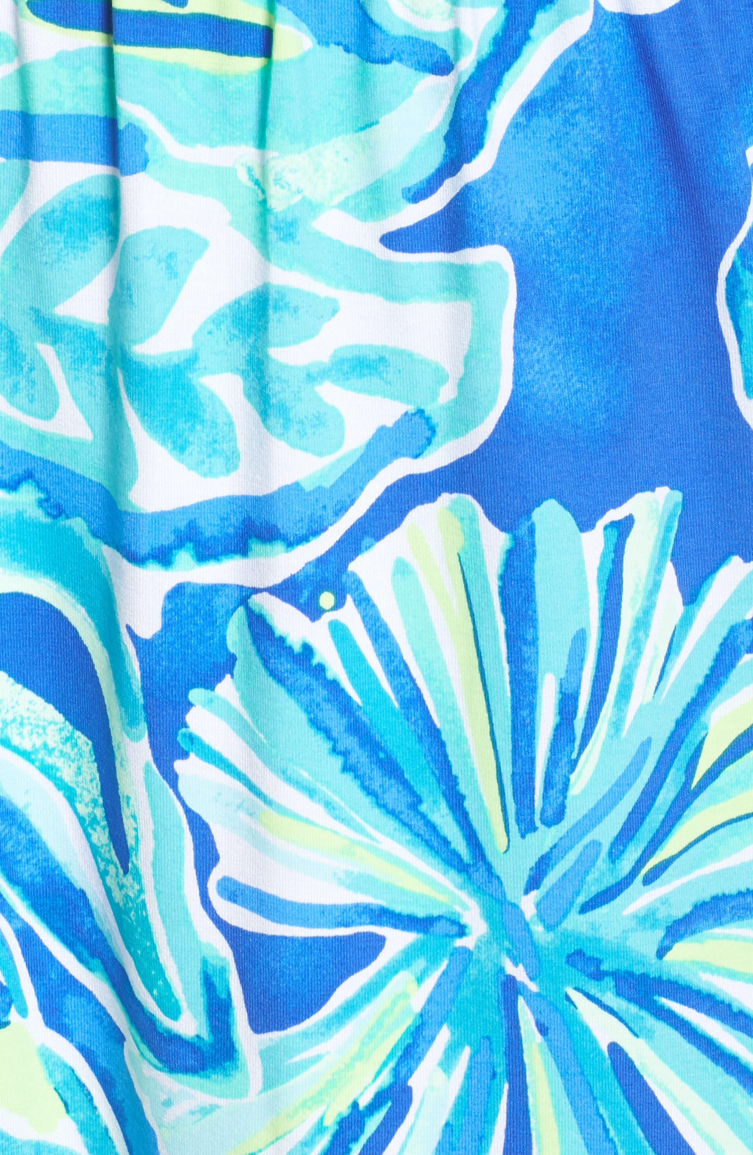 Marlisa Strapless Maxi Dress,                             Alternate thumbnail 5, color,                             Beckon Blue Palm Passage