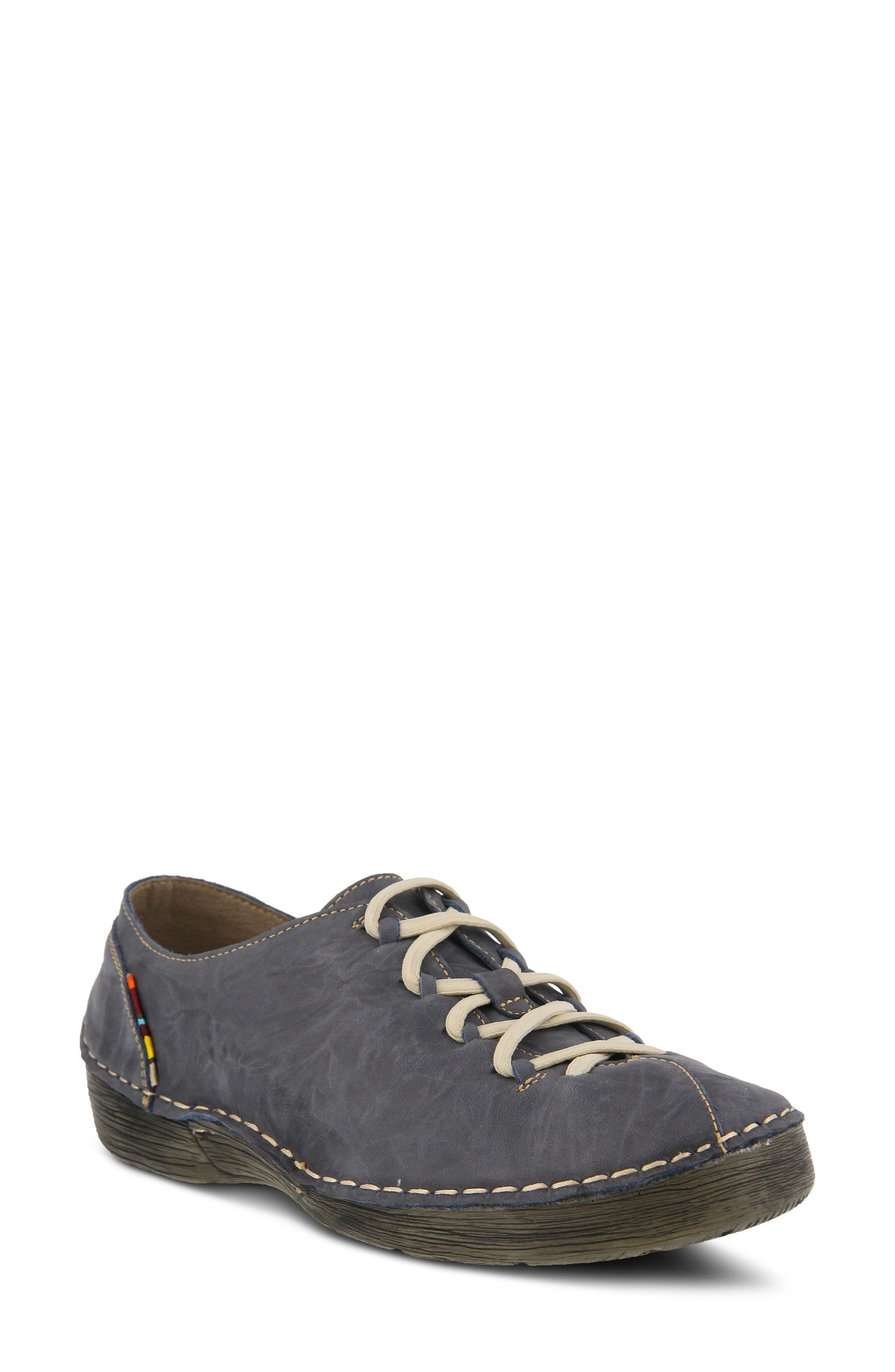 Carhop Sneaker,                         Main,                         color, Blue Leather