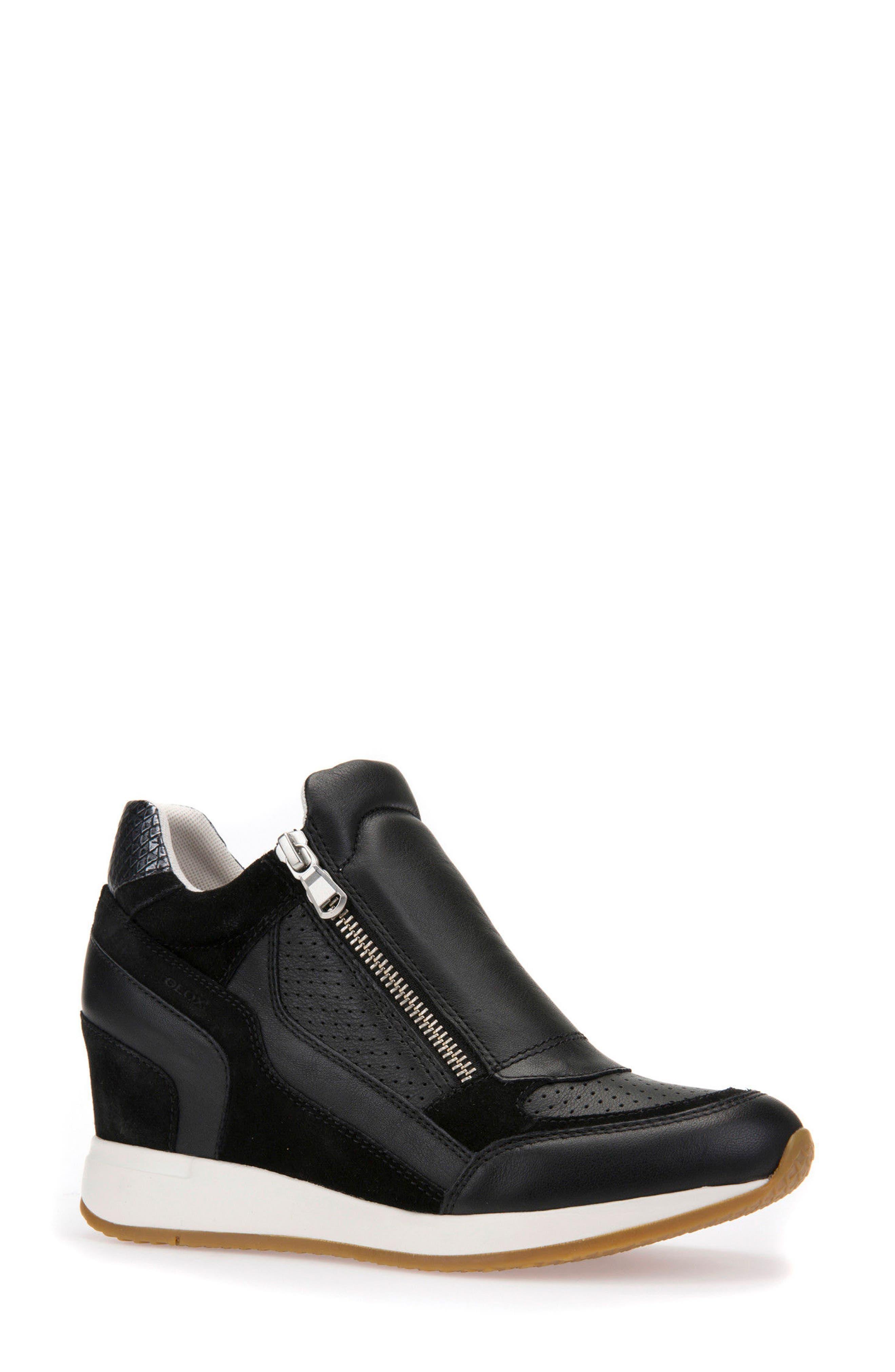 Alternate Image 1 Selected - Geox Nydame Wedge Sneaker (Women)