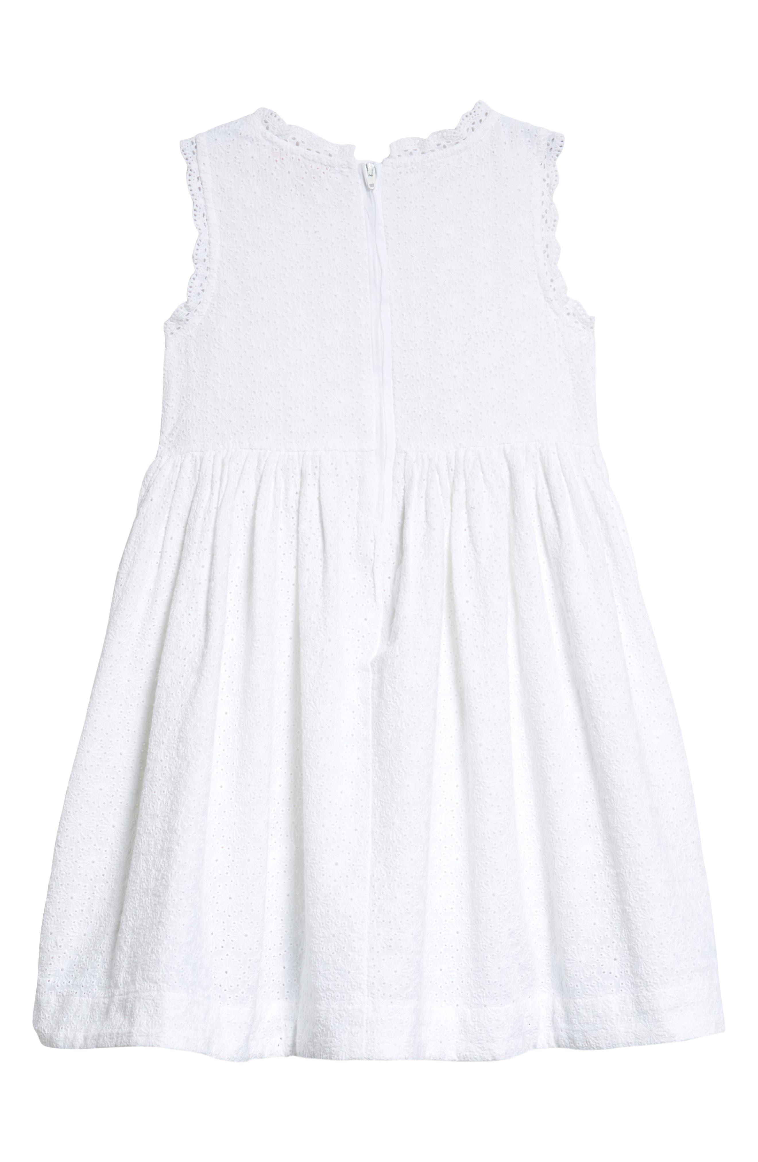 Lace Shift Dress,                             Alternate thumbnail 2, color,                             White