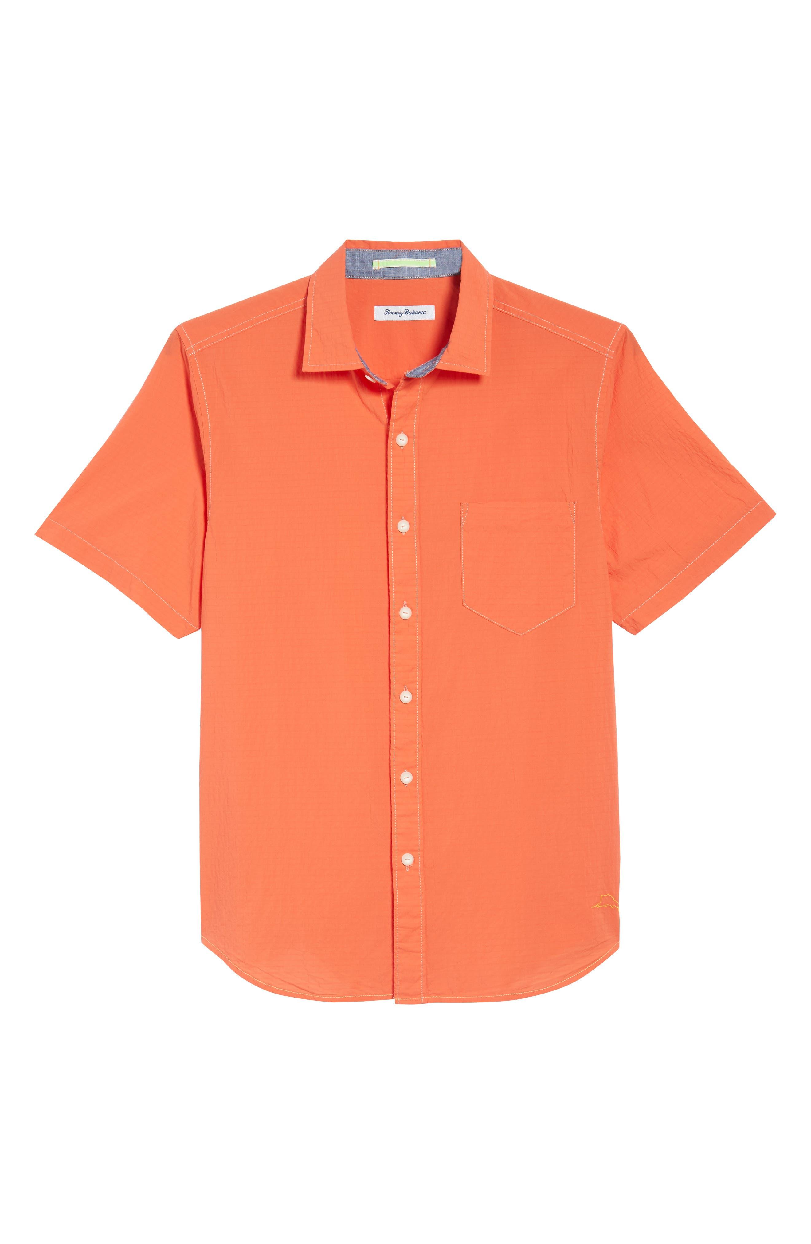 The Salvatore Standard Fit Sport Shirt,                             Alternate thumbnail 3, color,                             Burnt Coral