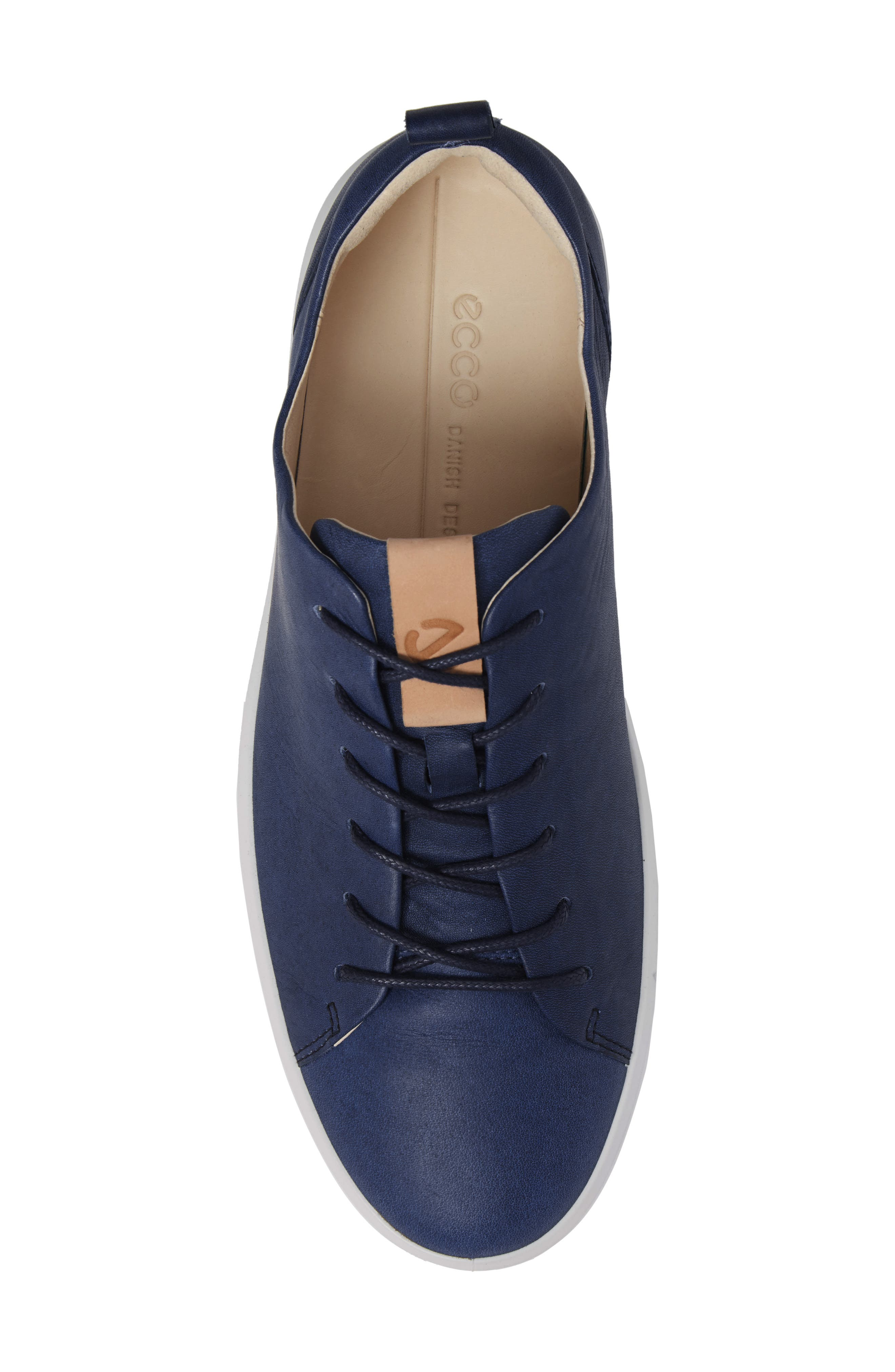 Soft 8 Sneaker,                             Alternate thumbnail 4, color,                             Indigo 7 Leather