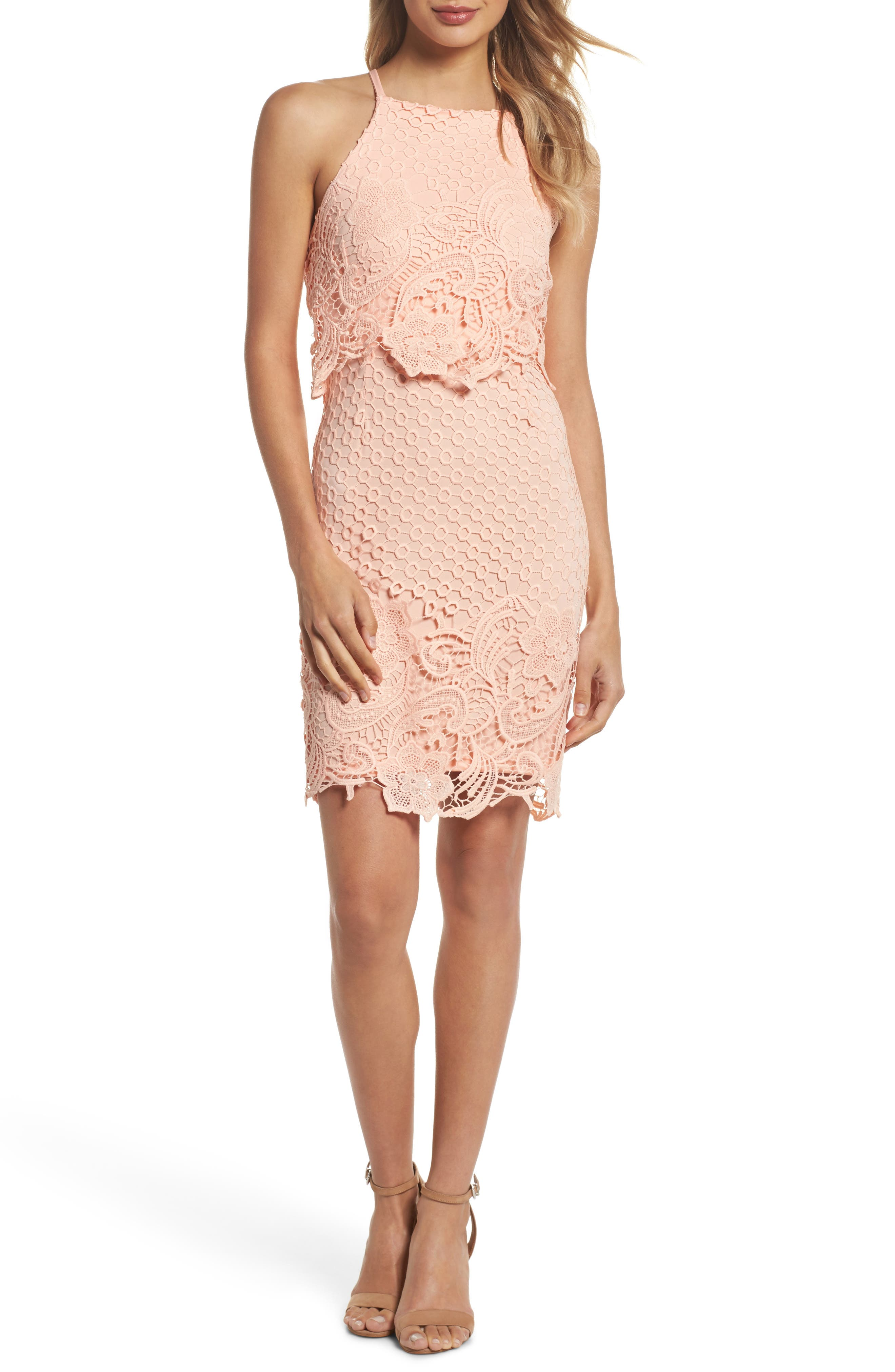 BB Dakota Bryn Lace Halter Dress