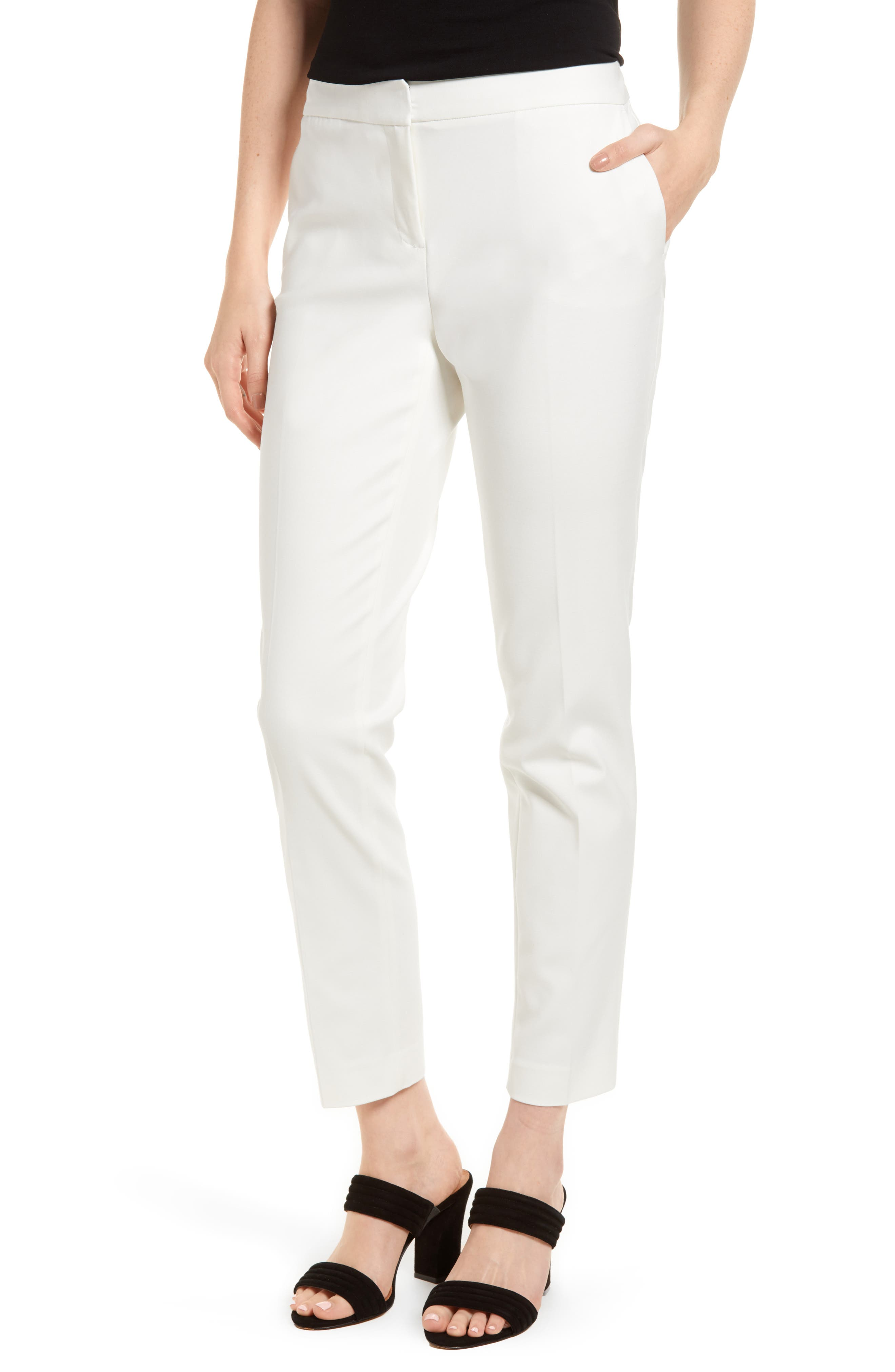 Stretch Twill Skinny Pants,                         Main,                         color, New Ivory