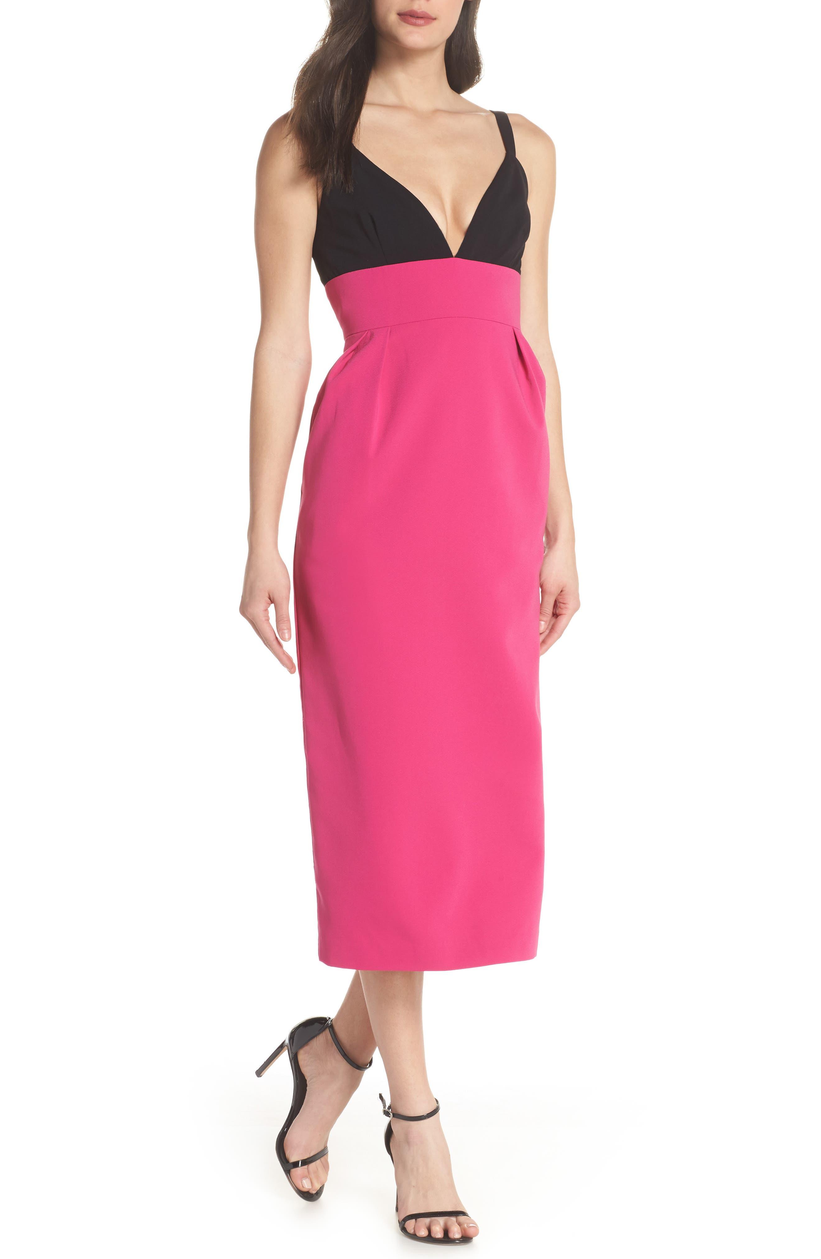 Jill Jill Stuart Colorblock Midi Dress